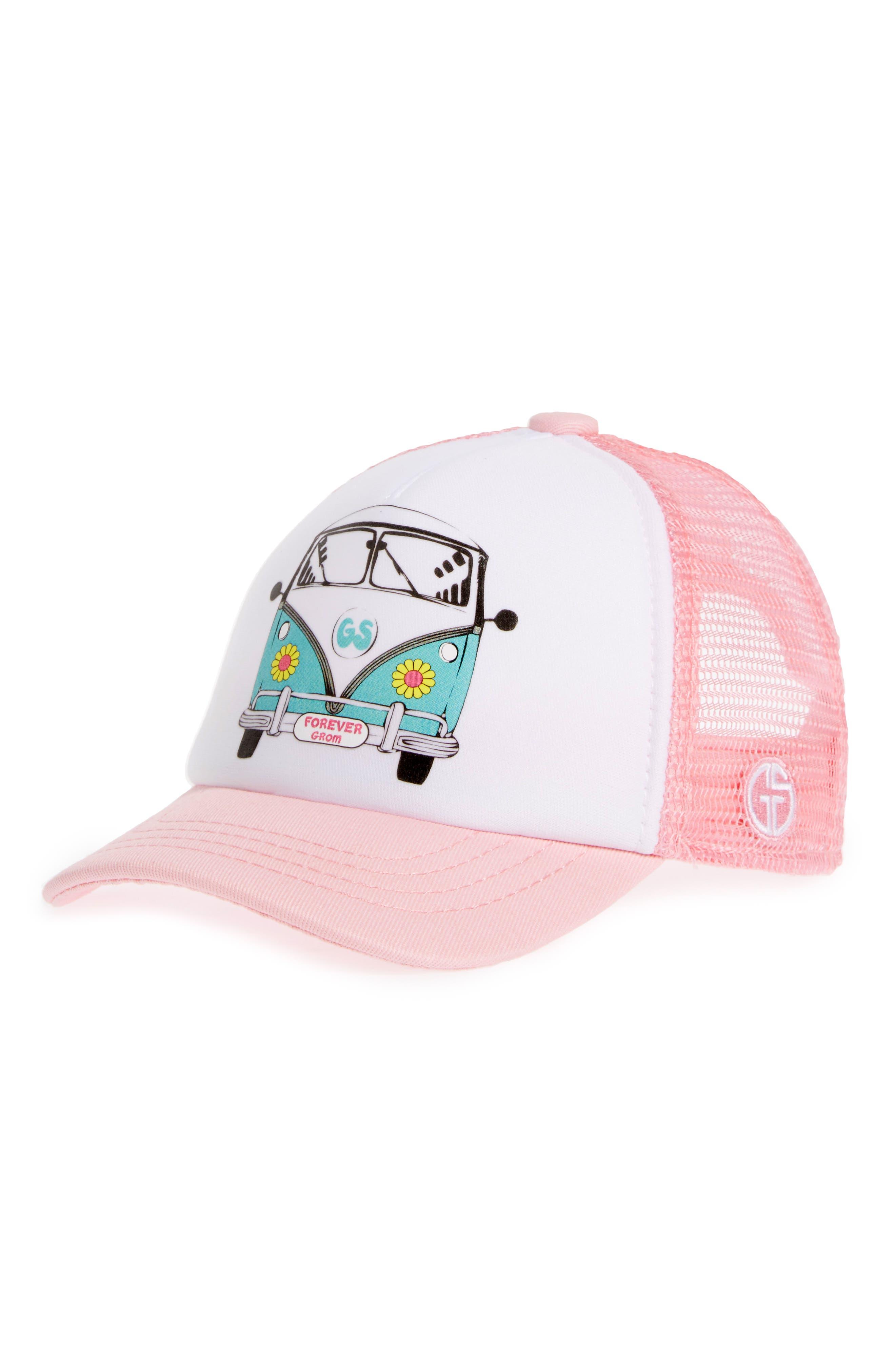Trucker Hat,                         Main,                         color, BUSIN DAISY