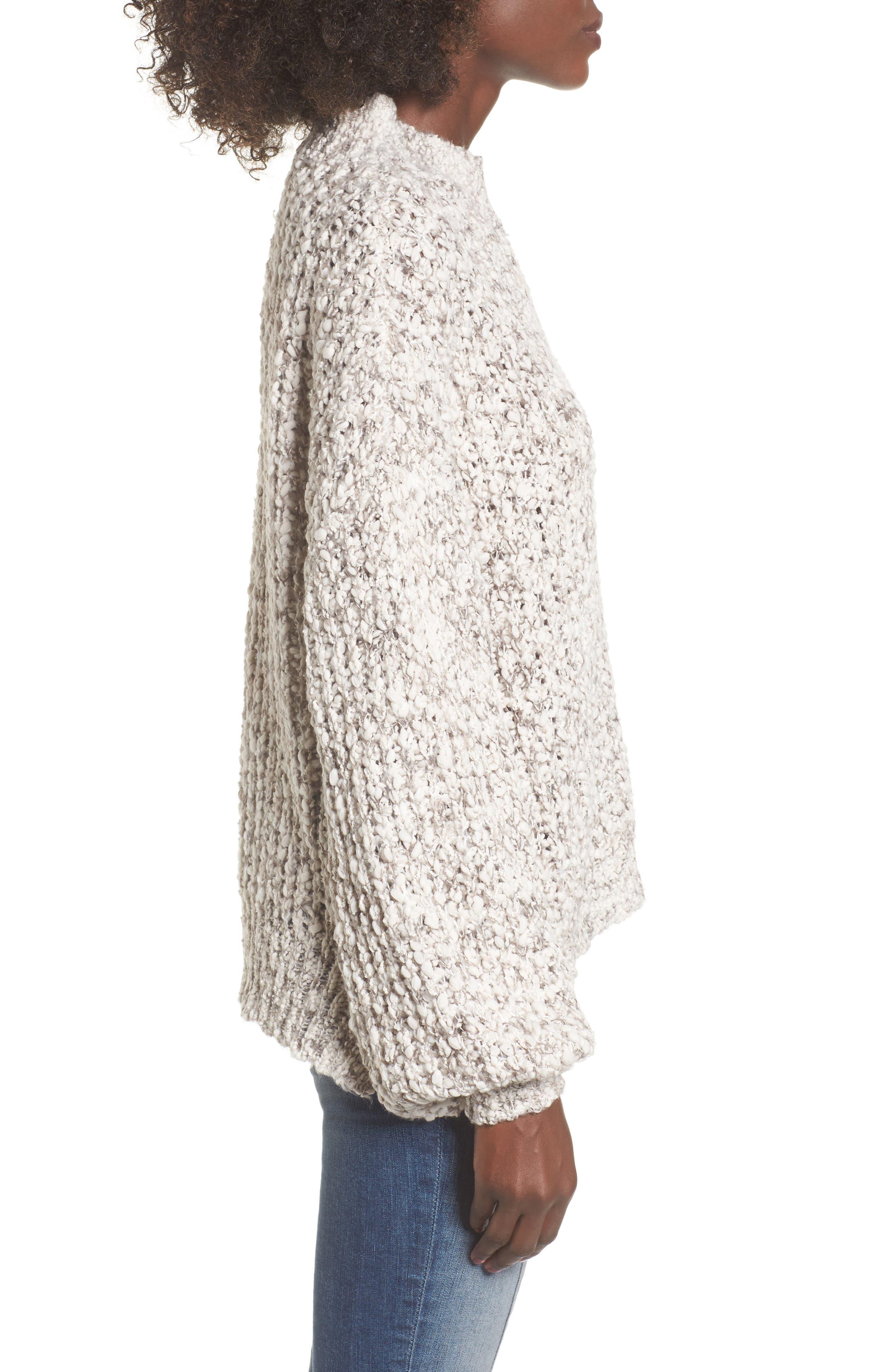 Chunky Knit Mock Neck Sweater,                             Alternate thumbnail 3, color,                             900