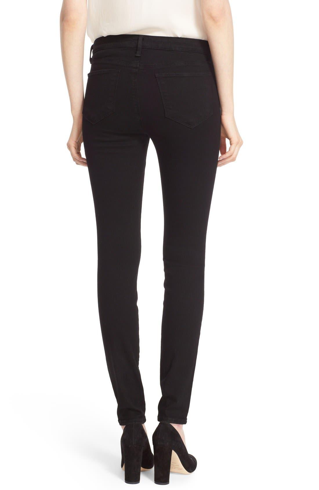 Marguerite Skinny Jeans,                             Alternate thumbnail 2, color,                             001