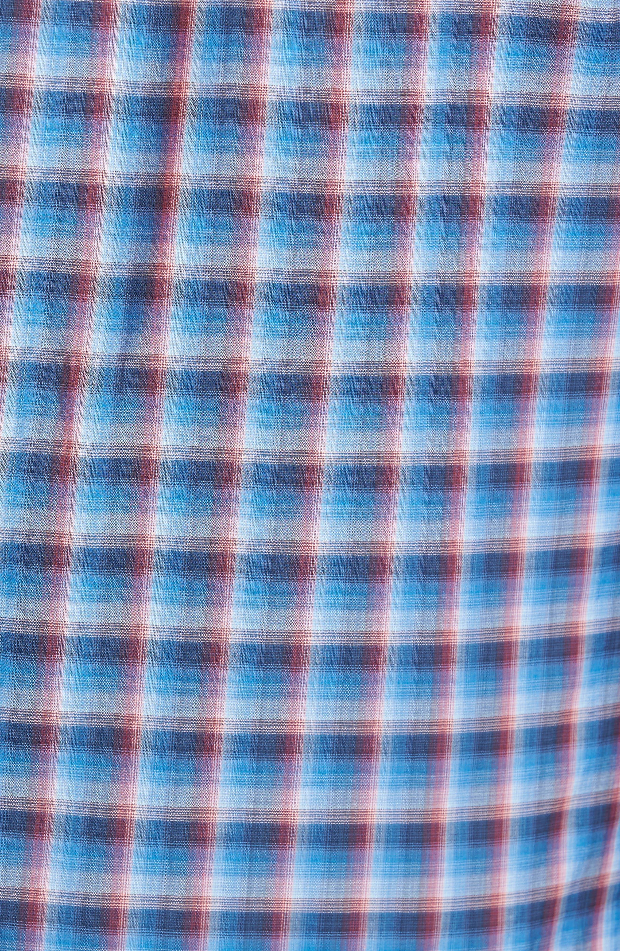 Pinker Plaid Sport Shirt,                             Alternate thumbnail 5, color,                             401