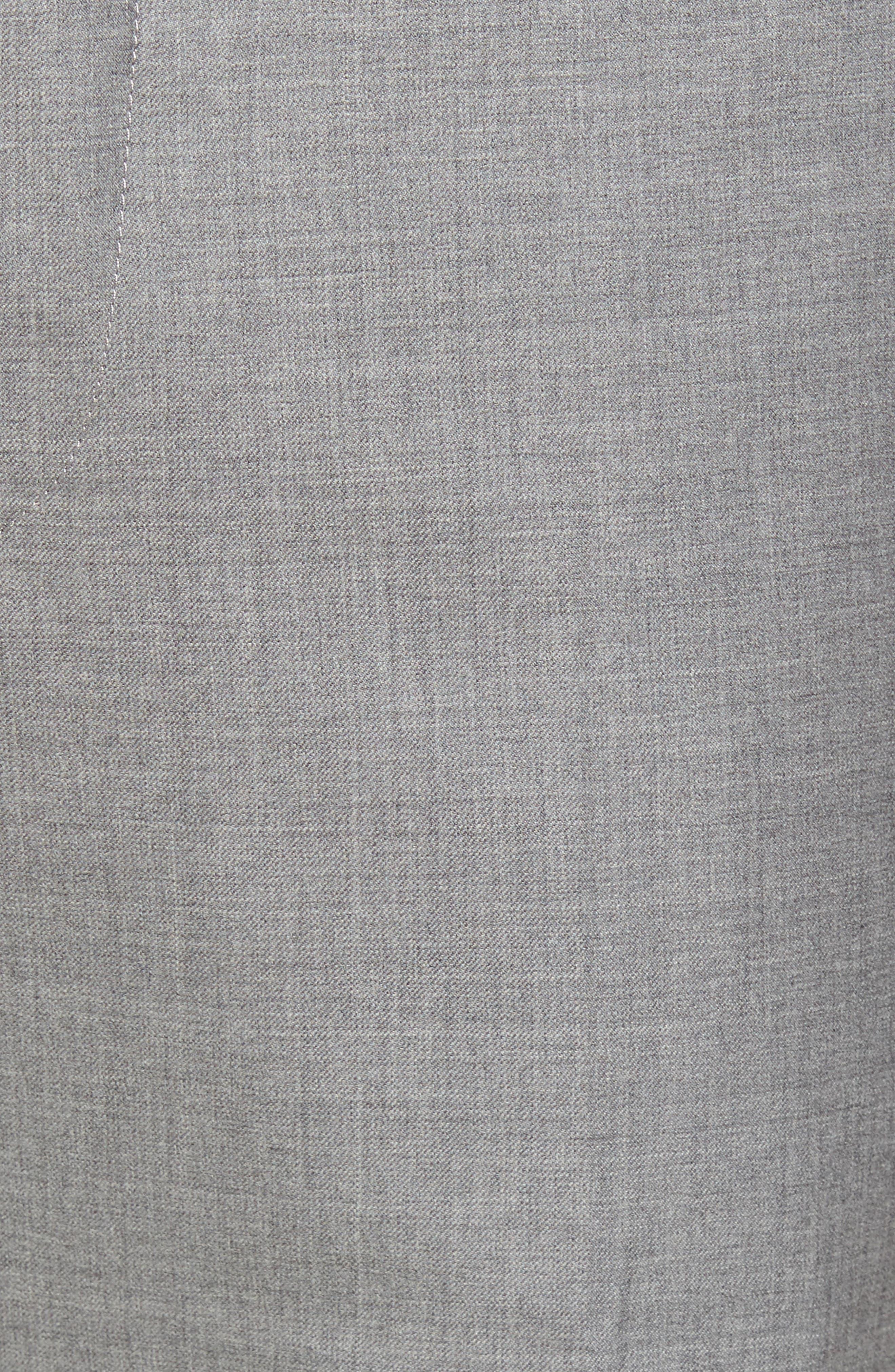 Peter Millar Multi Season Super 150s Wool Flat Front Trousers,                             Alternate thumbnail 5, color,                             047