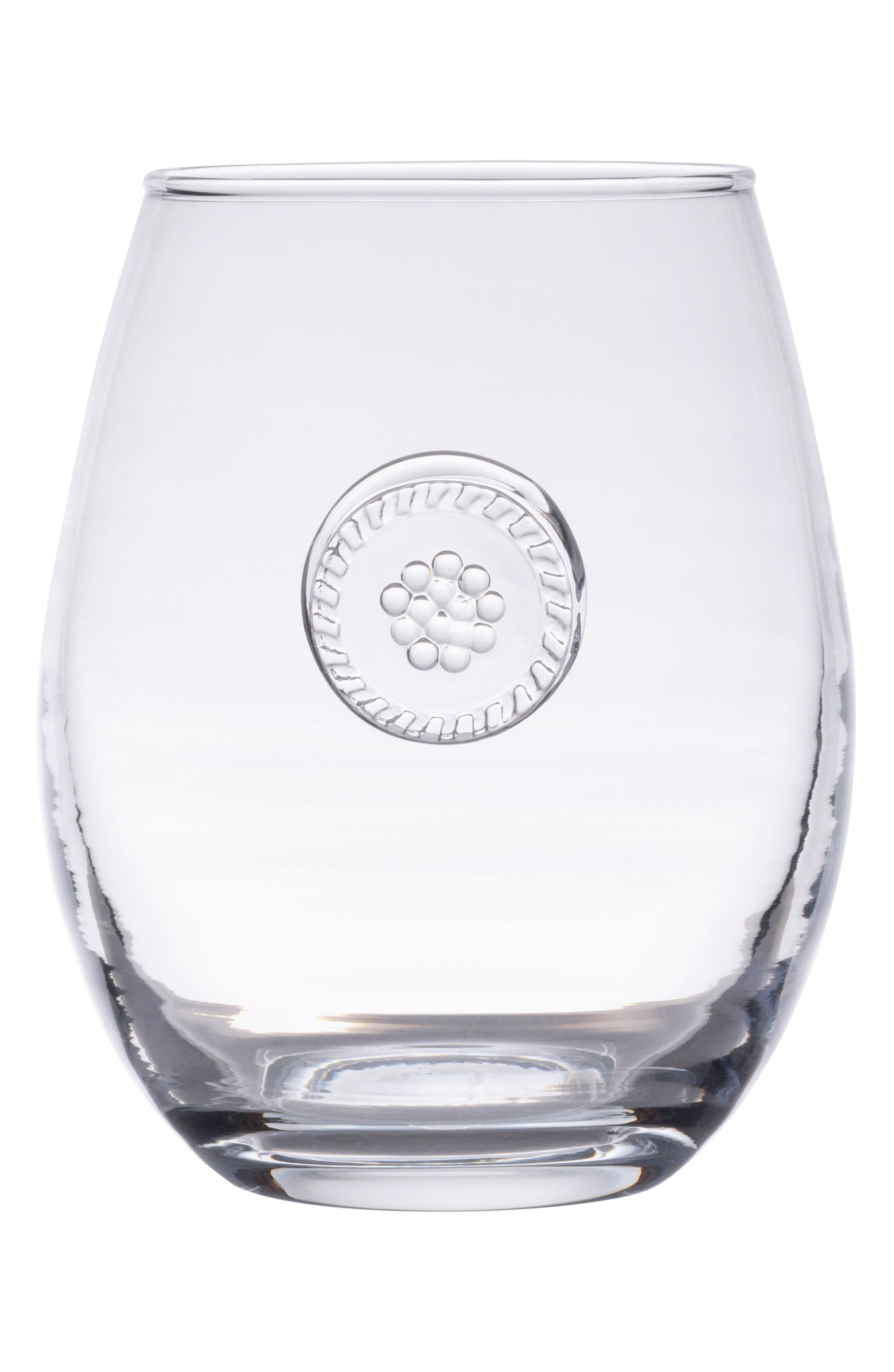 Berry & Thread Stemless White Wine Glass,                             Main thumbnail 1, color,                             CLEAR