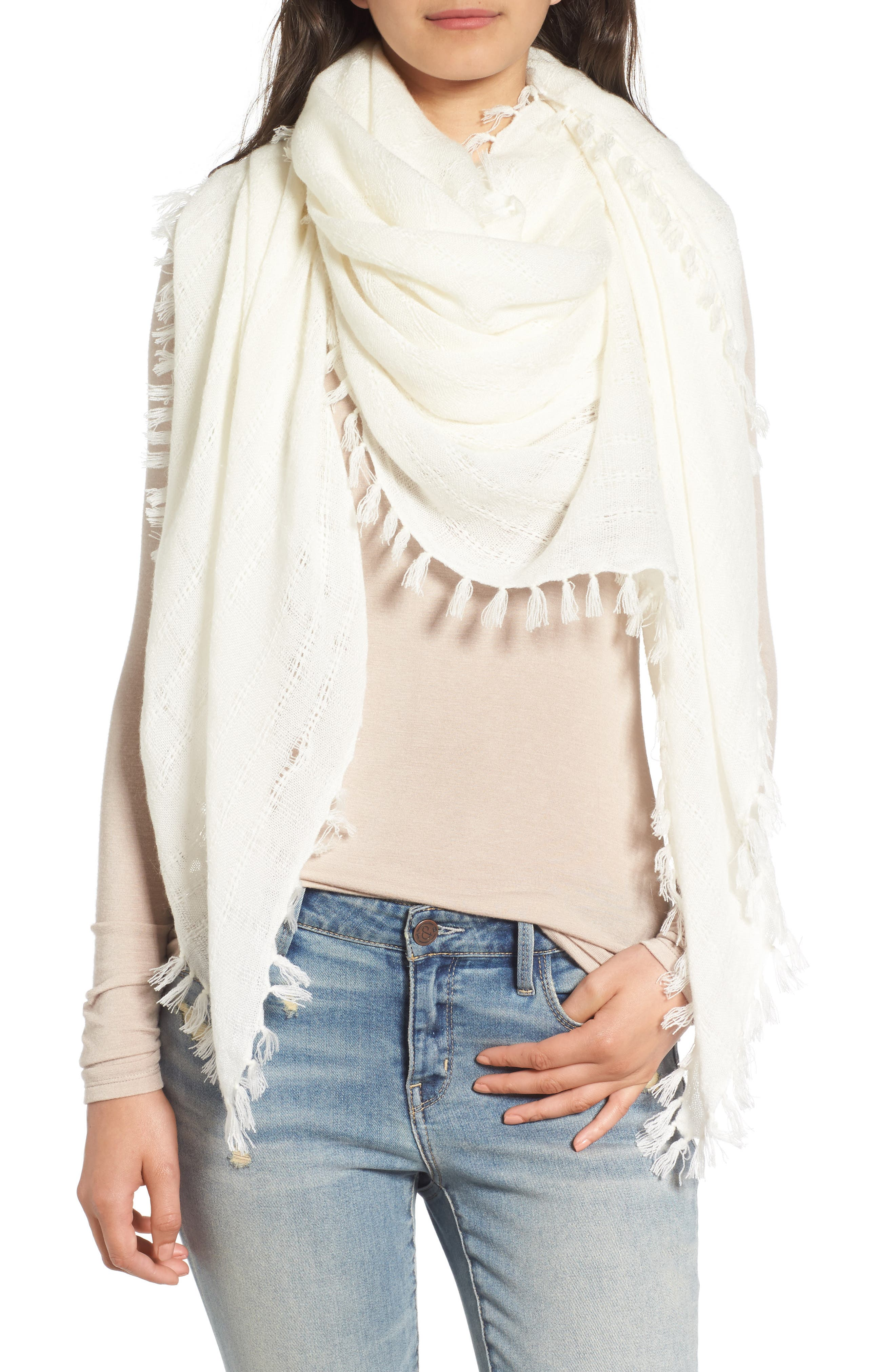 Knotted Tassel Scarf,                             Main thumbnail 5, color,