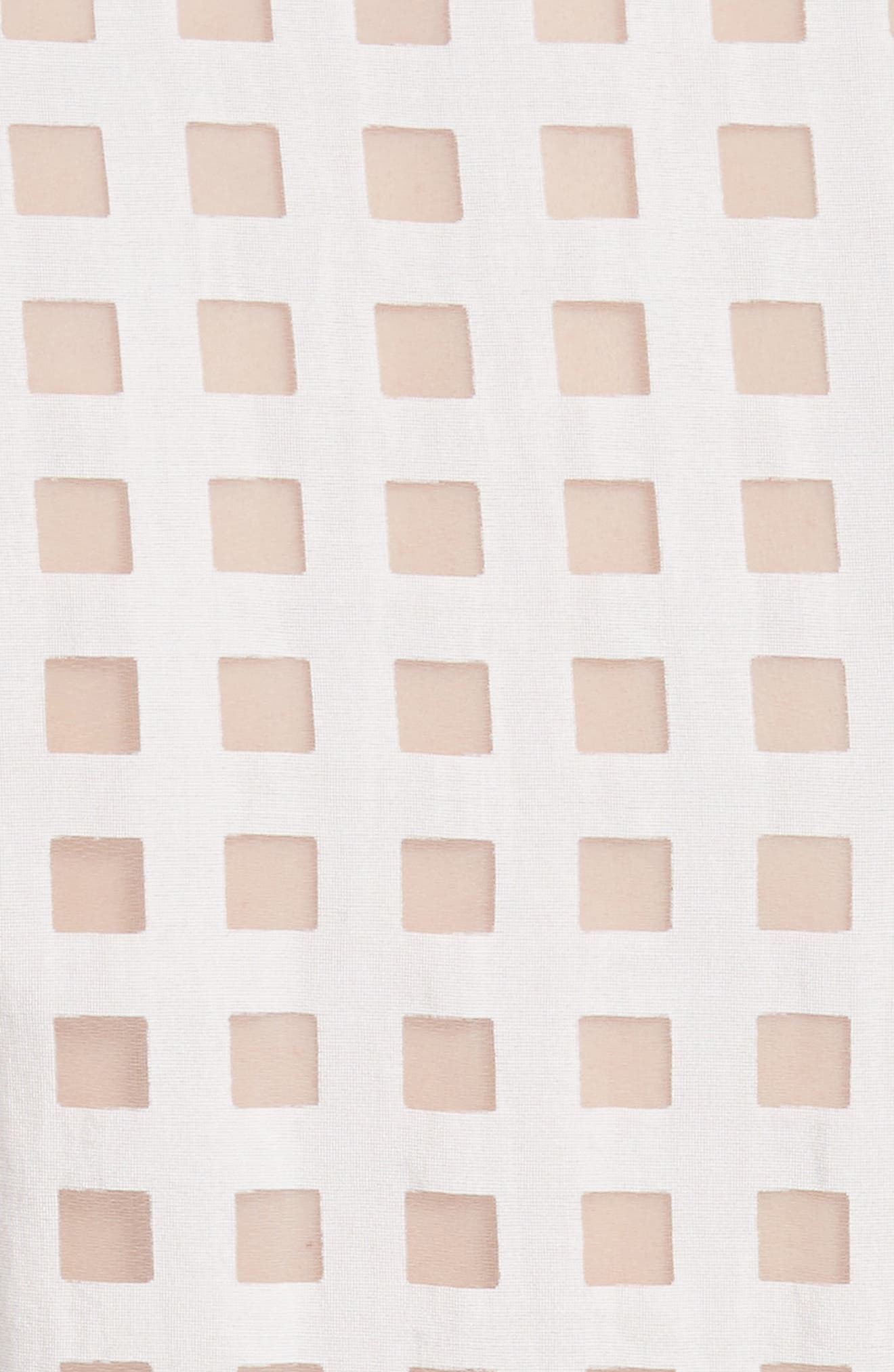 Haley Window Check Shirtdress,                             Alternate thumbnail 5, color,                             WHITE