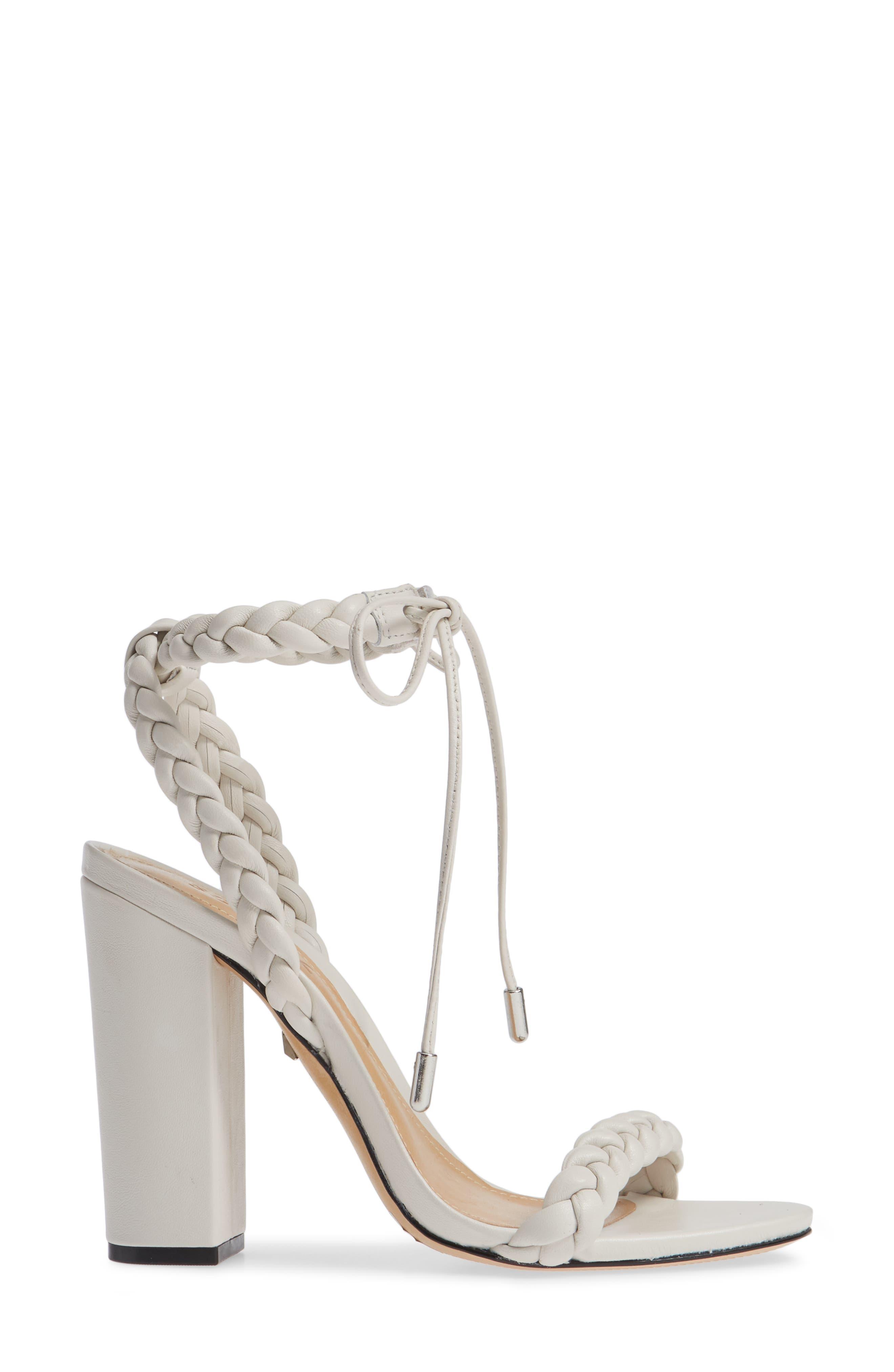 Lainna Braided Strap Sandal,                             Alternate thumbnail 3, color,                             PEARL