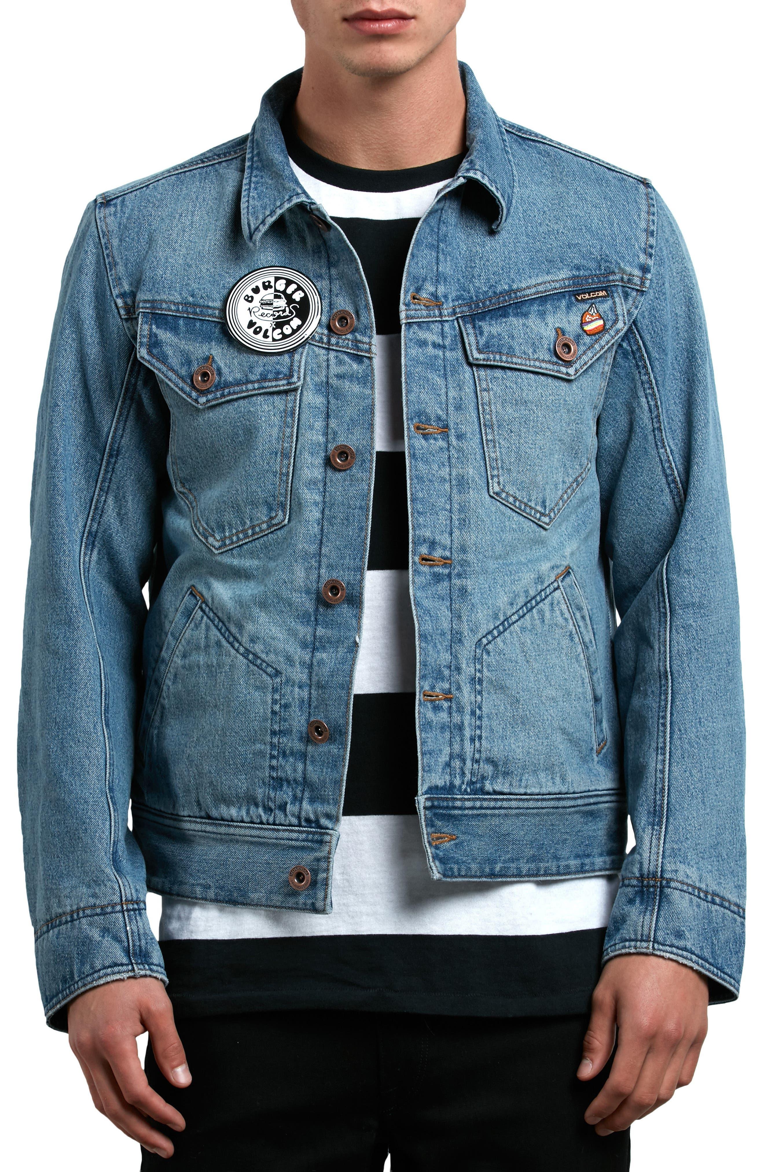 x Burger Records Denim Jacket,                         Main,                         color, 499
