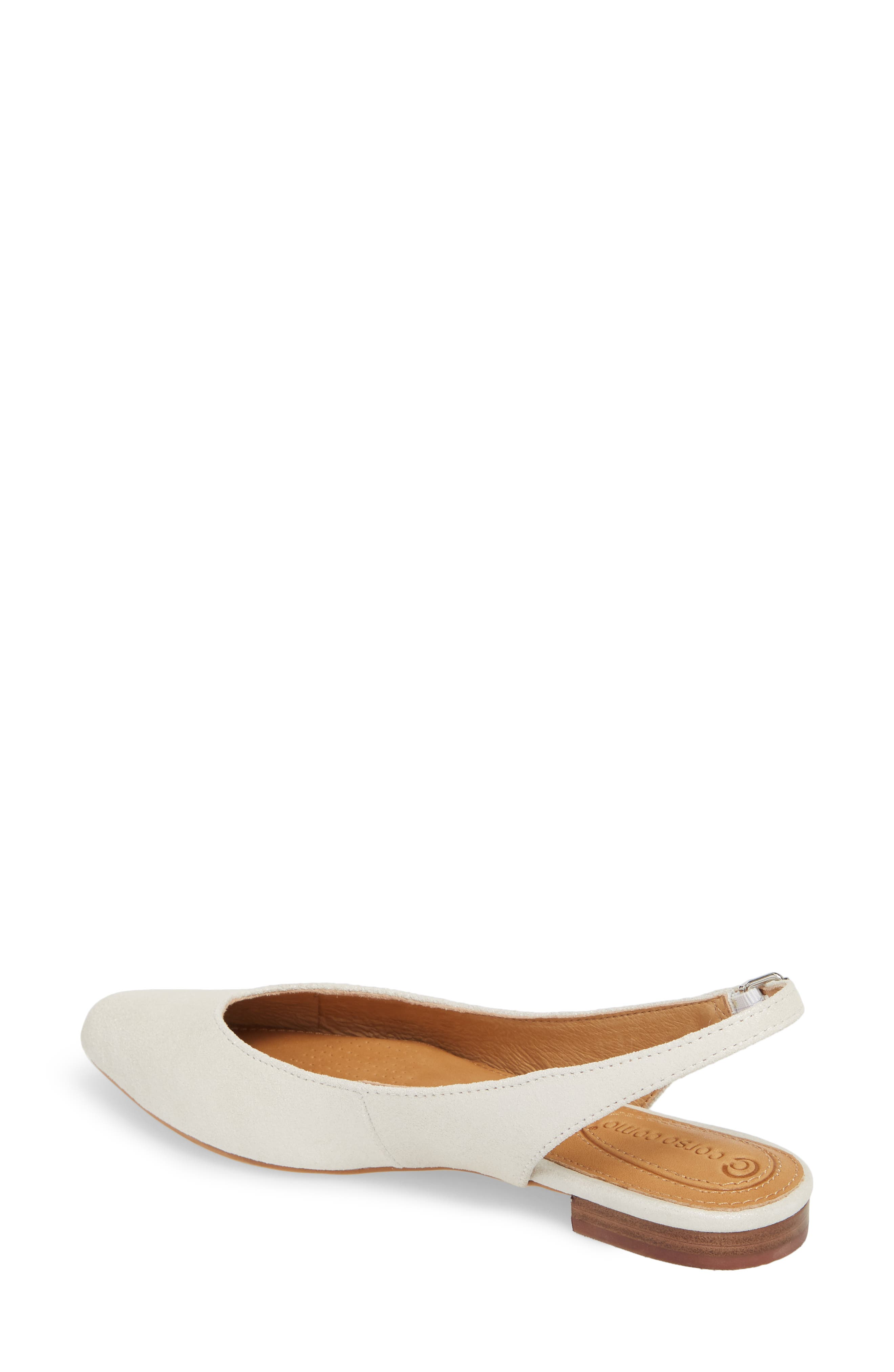 Jackey Slingback Flat,                             Alternate thumbnail 2, color,                             PLATINUM LEATHER