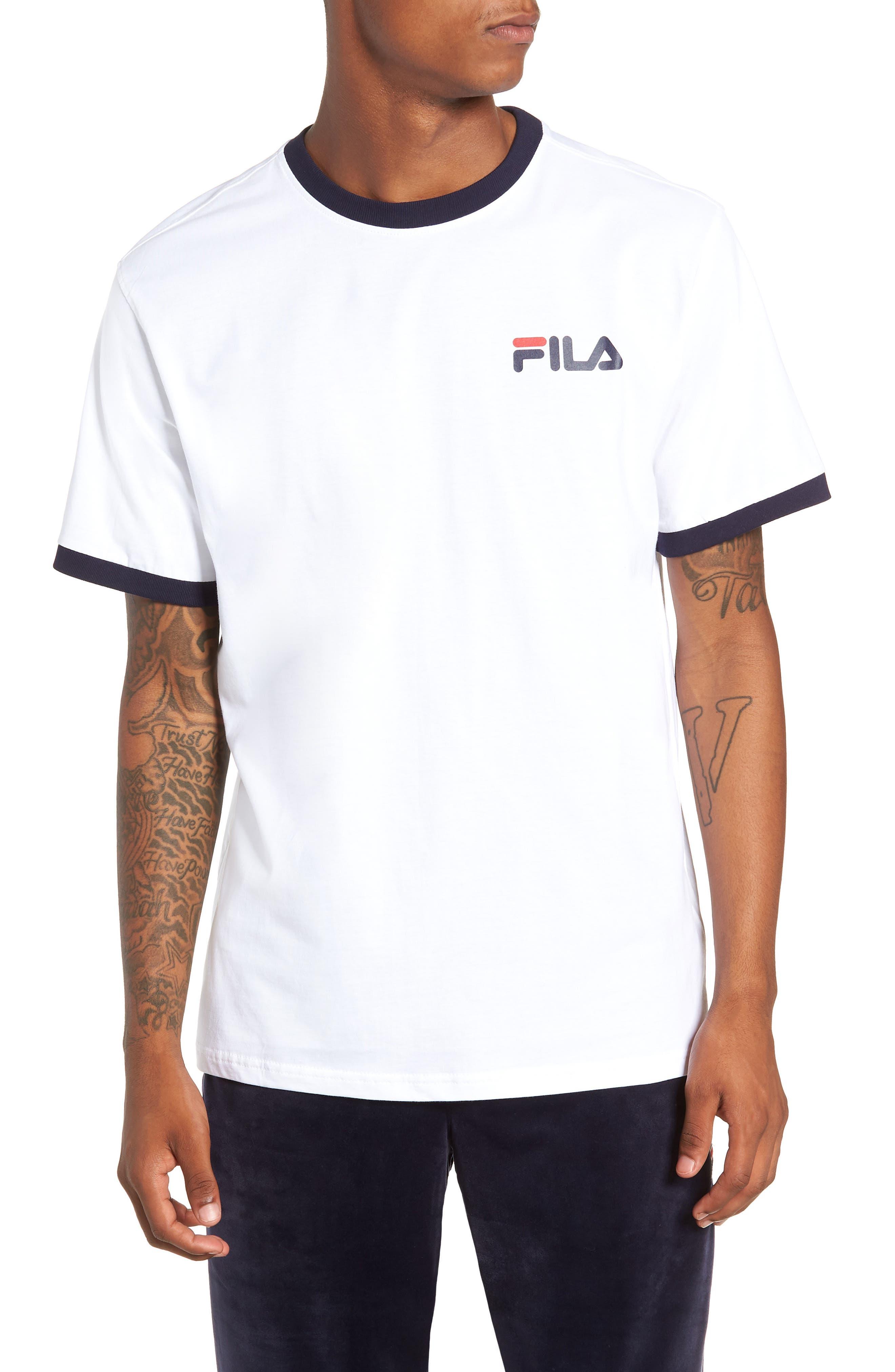 Roscoe Ringer T-Shirt,                         Main,                         color, WHITE/ PEACOAT