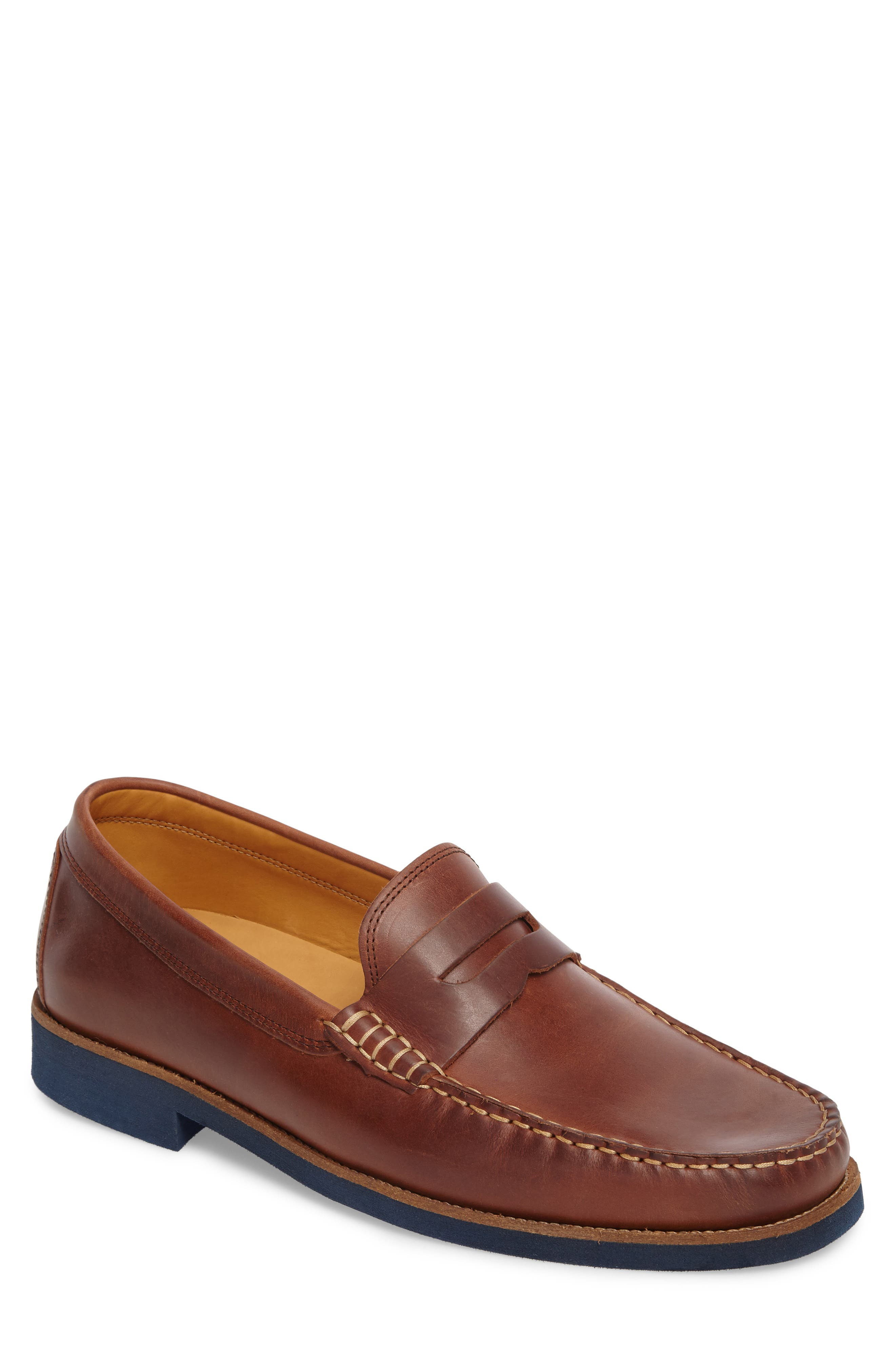 Lincolns Penny Loafer,                             Main thumbnail 1, color,                             LIGHT BROWN