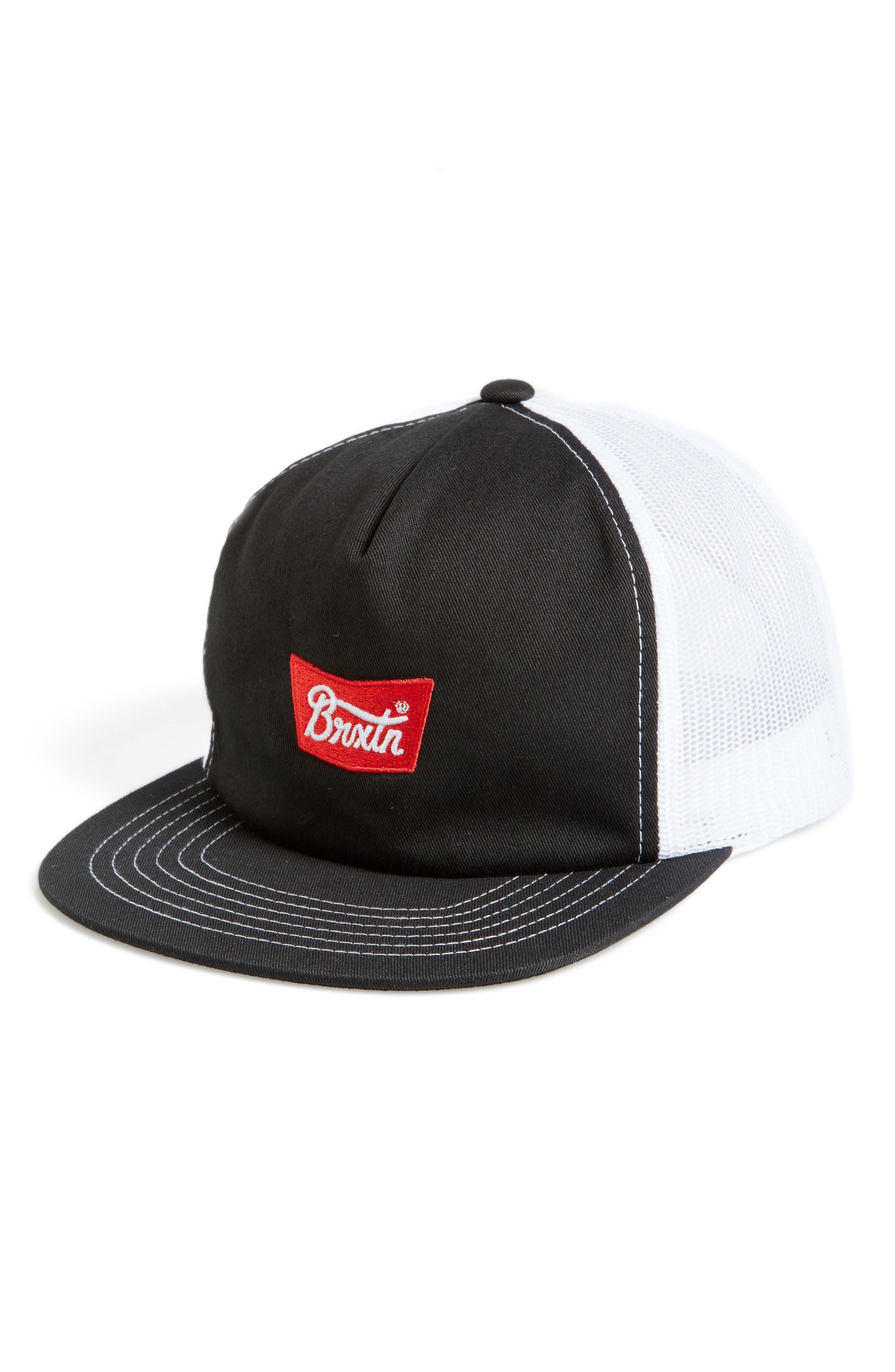 Stith Mesh Snapback Baseball Cap,                             Main thumbnail 1, color,                             001