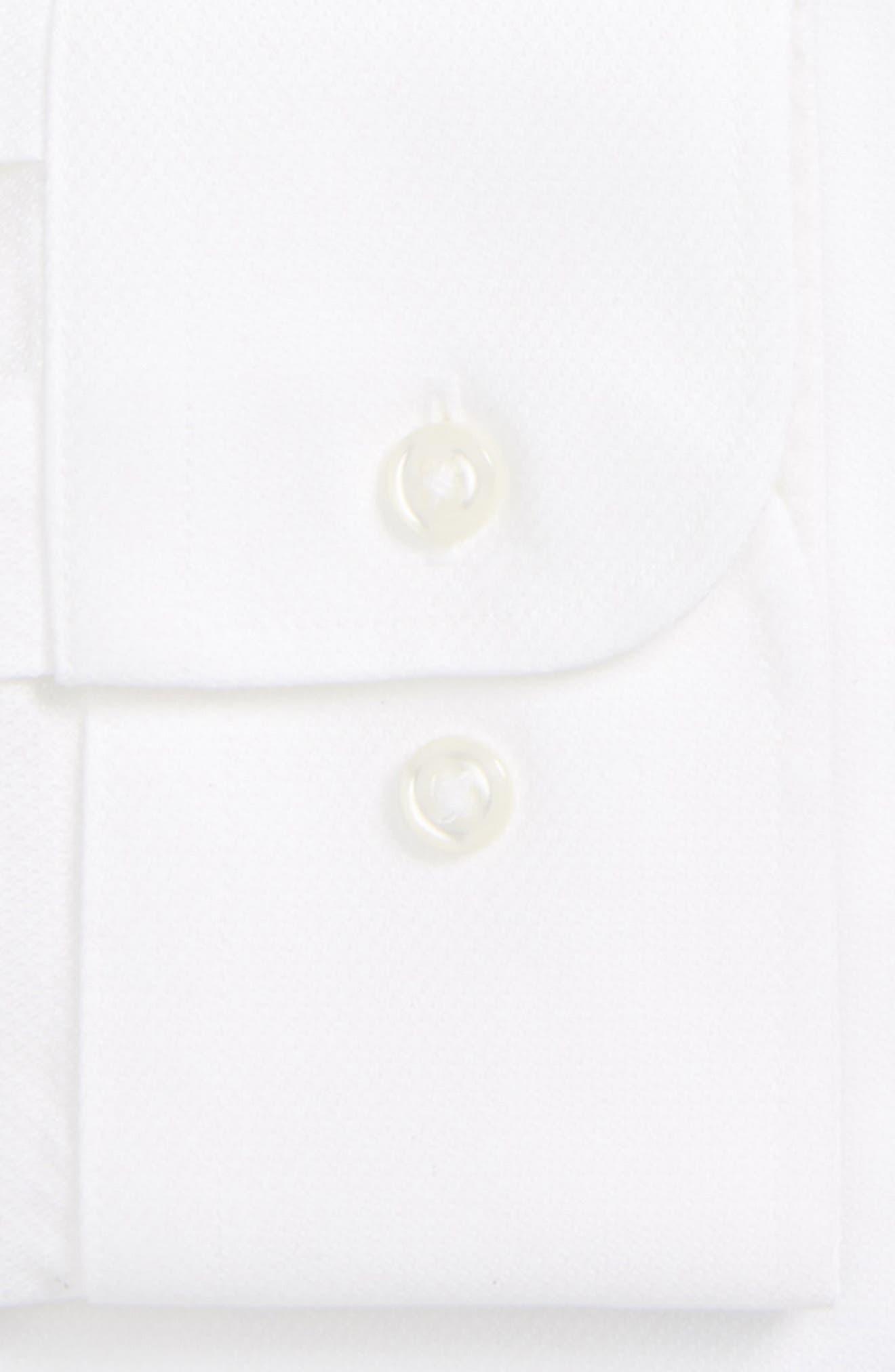 Smartcare<sup>™</sup> Trim Fit Solid Dress Shirt,                             Alternate thumbnail 6, color,                             100