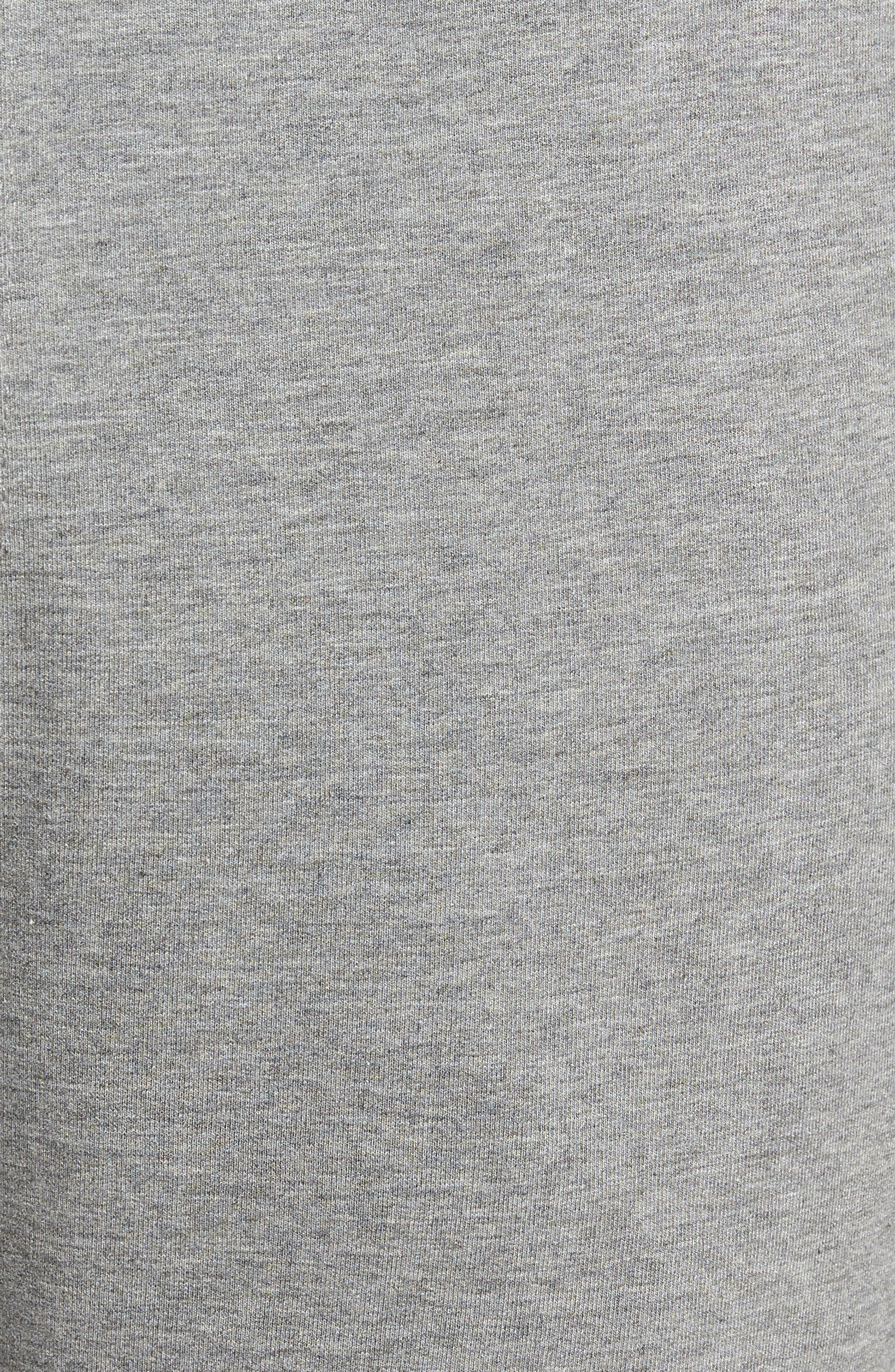 Legacy II Semi-Fitted Knit Athletic Shorts,                             Alternate thumbnail 5, color,                             HEATHER GRAY