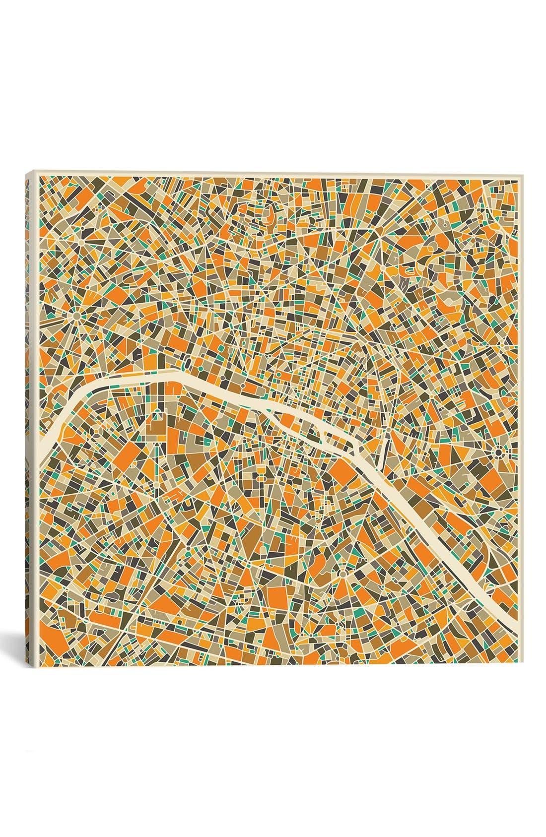 'City Map of Paris' Giclée Print Canvas Art,                         Main,                         color, 800