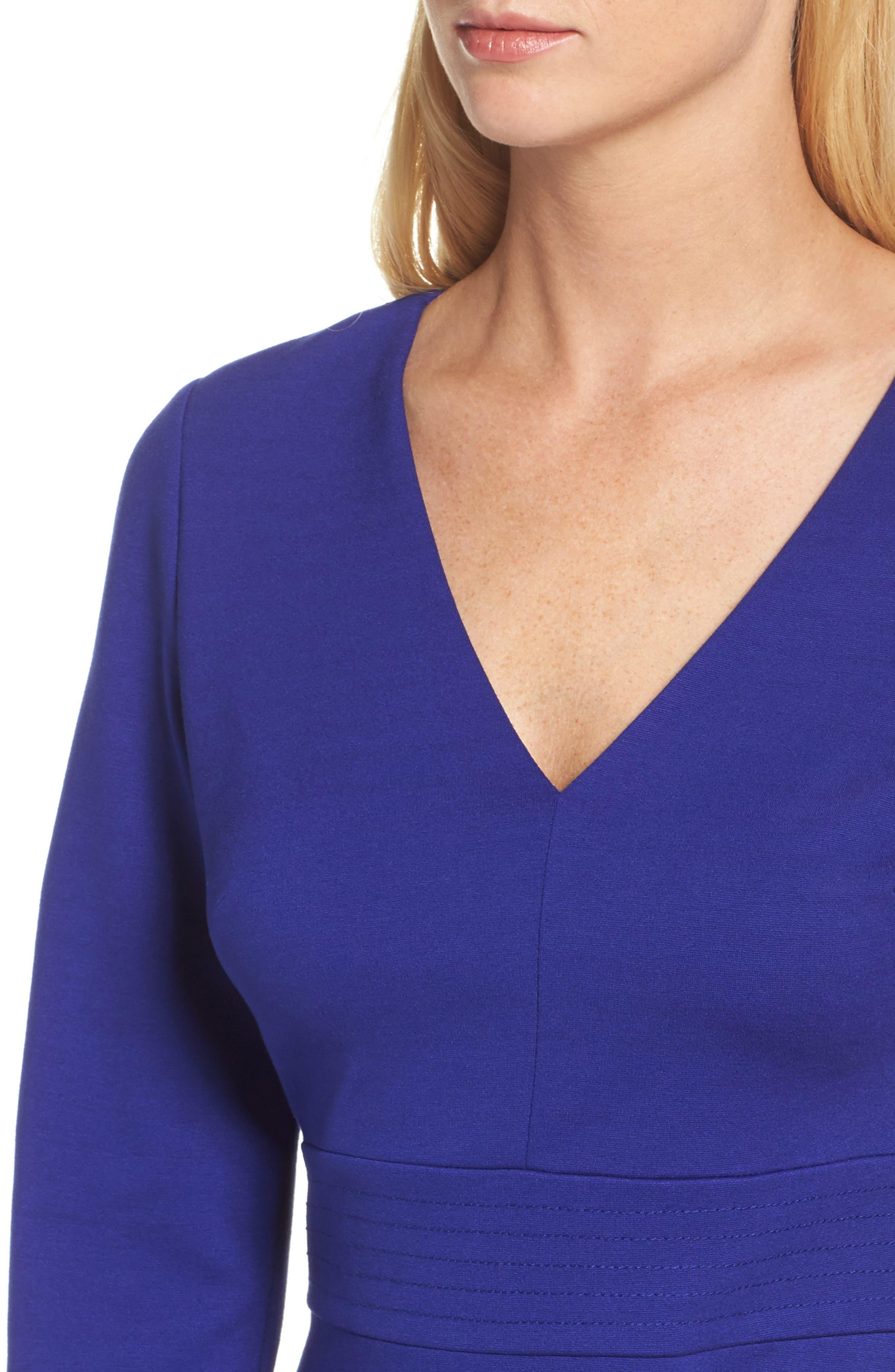 Fit & Flare Dress,                             Alternate thumbnail 4, color,                             430
