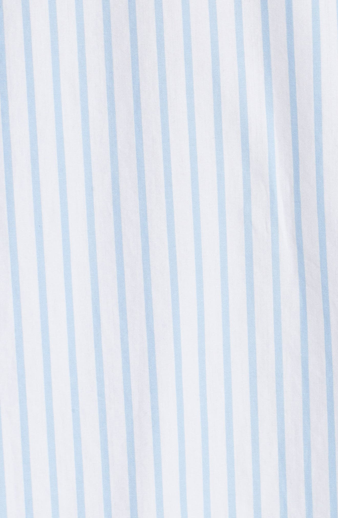 Stripe Poplin Shirt,                             Alternate thumbnail 5, color,                             161