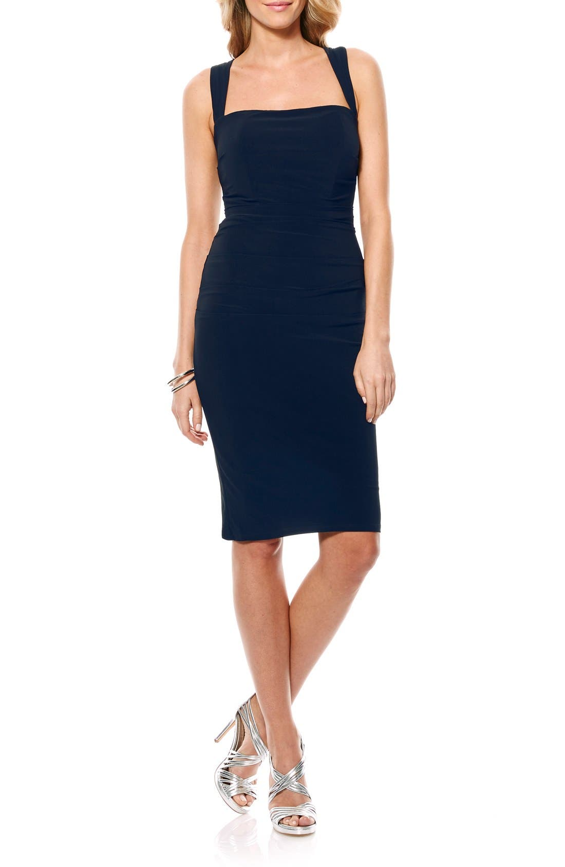 Twist Back Jersey Body-Con Dress,                             Main thumbnail 3, color,