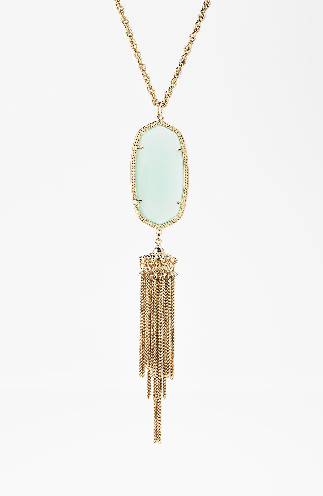 Rayne Stone Tassel Pendant Necklace,                             Alternate thumbnail 124, color,
