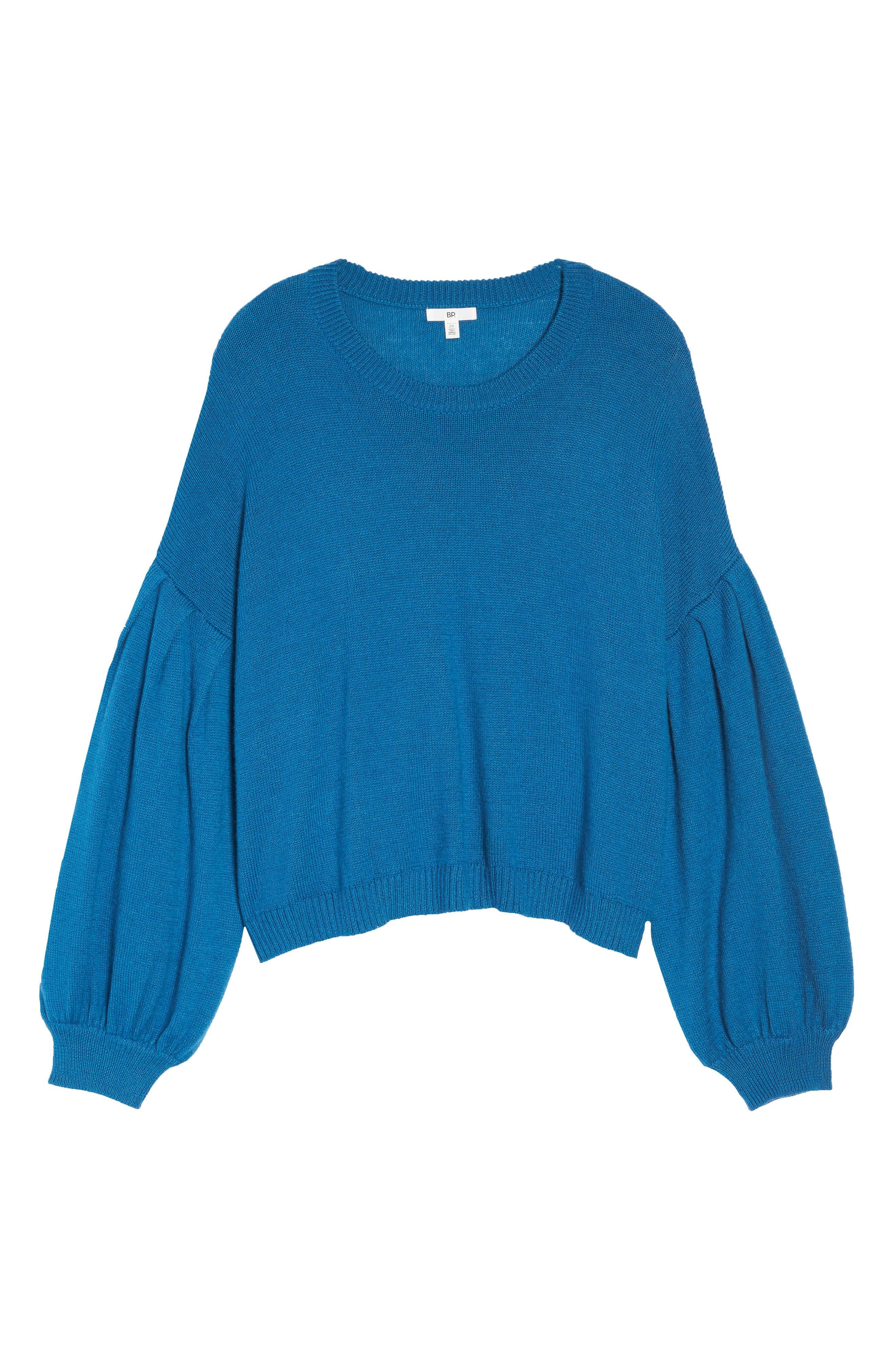 Blouson Sleeve Sweater,                             Alternate thumbnail 11, color,                             TEAL SAPPHIRE