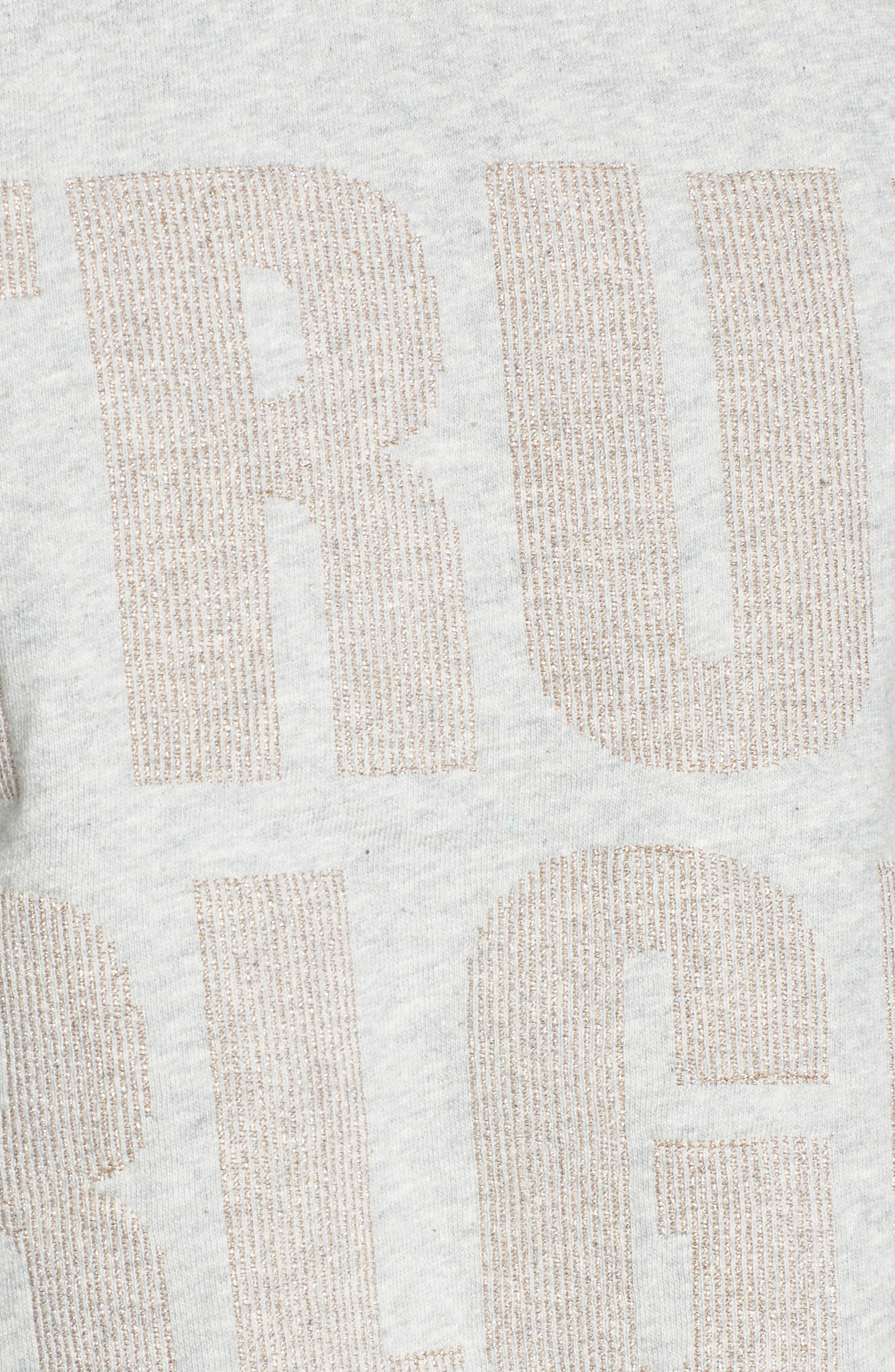 Cold Shoulder Crop Sweatshirt,                             Alternate thumbnail 10, color,