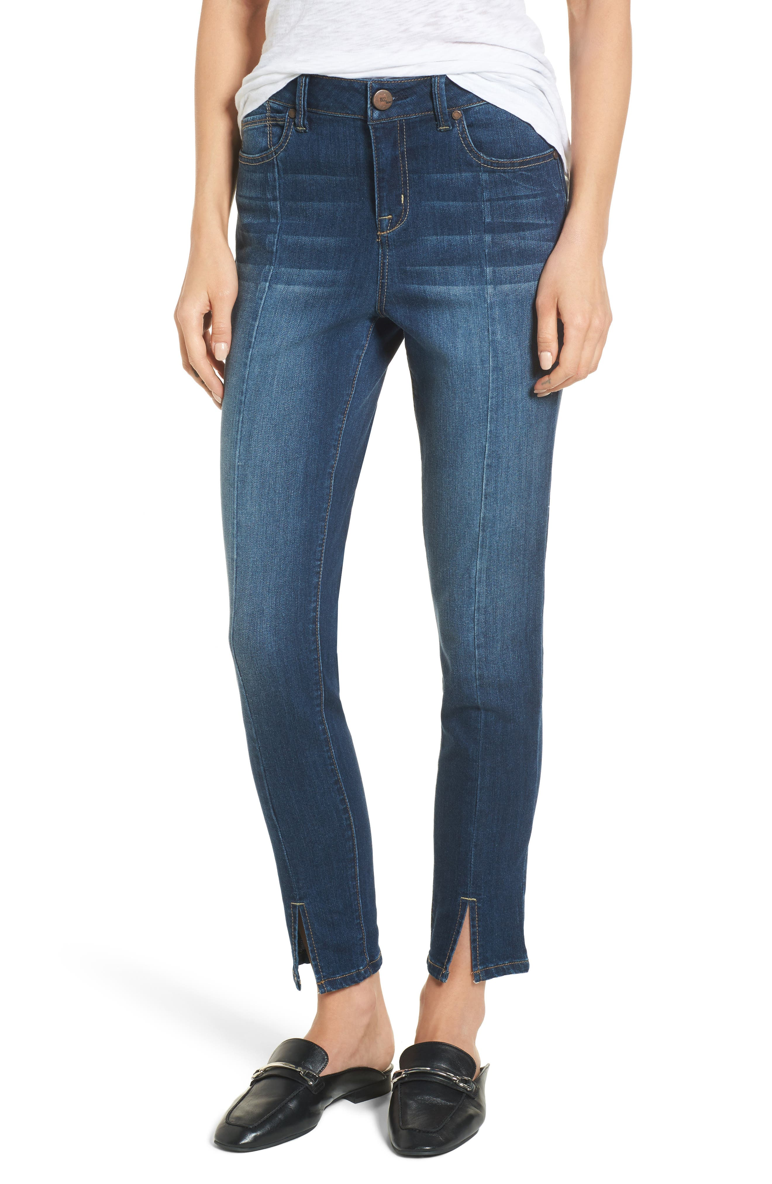 Front Seam Skinny Jeans,                             Main thumbnail 1, color,                             404