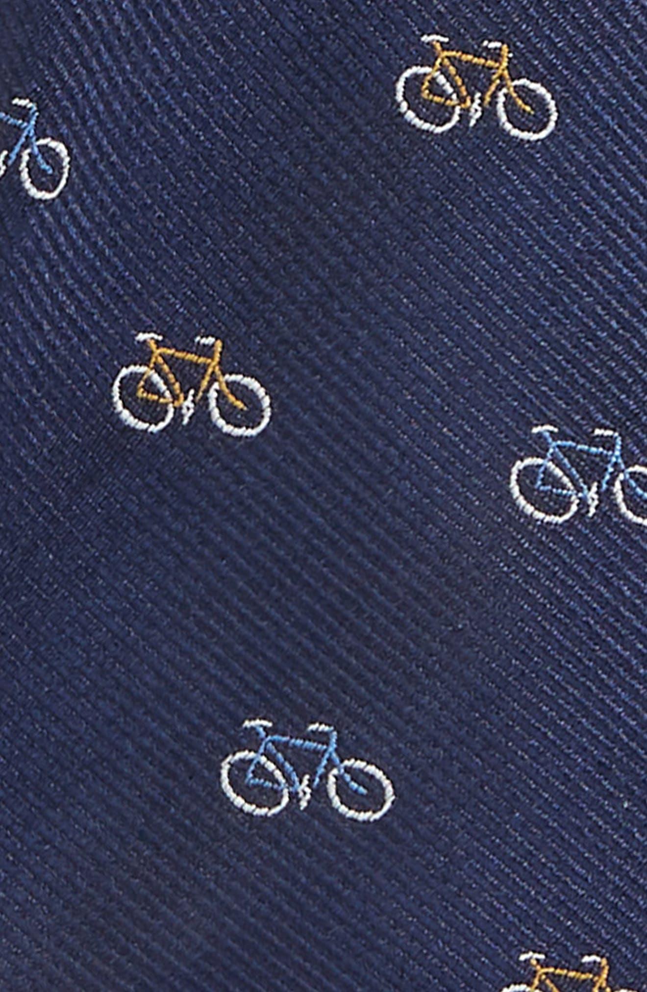 Bike Silk Tie,                             Alternate thumbnail 2, color,                             NAVY