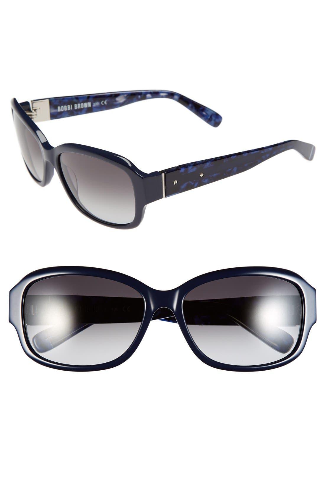 'The Sandra' 57mm Sunglasses, Main, color, 400
