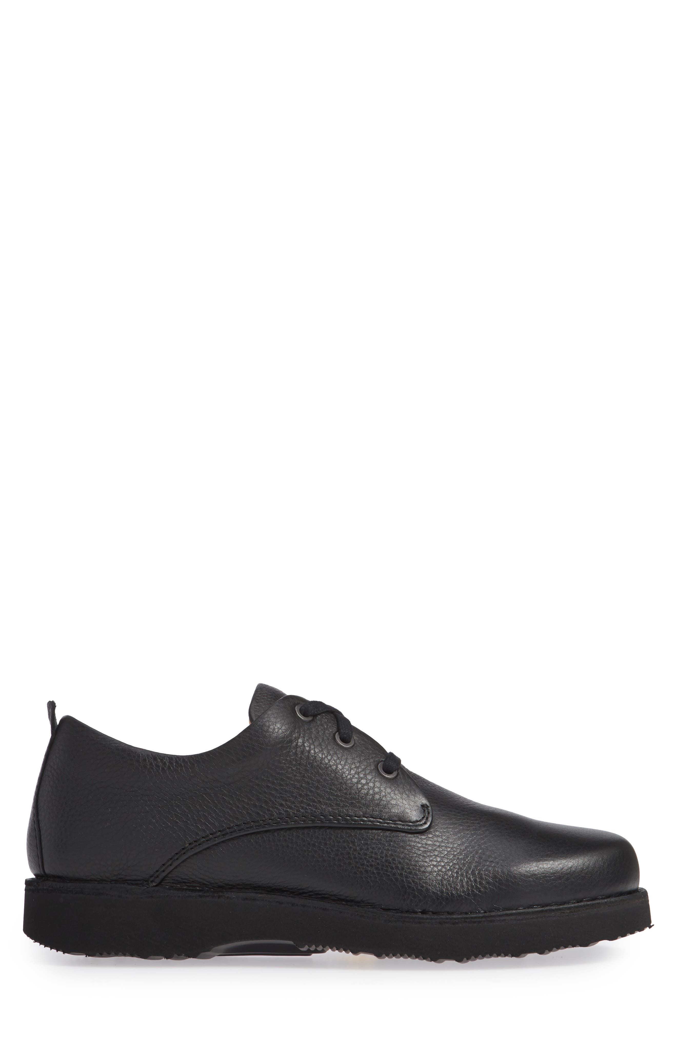 Free Plain Toe Derby,                             Alternate thumbnail 3, color,                             BLACK LEATHER