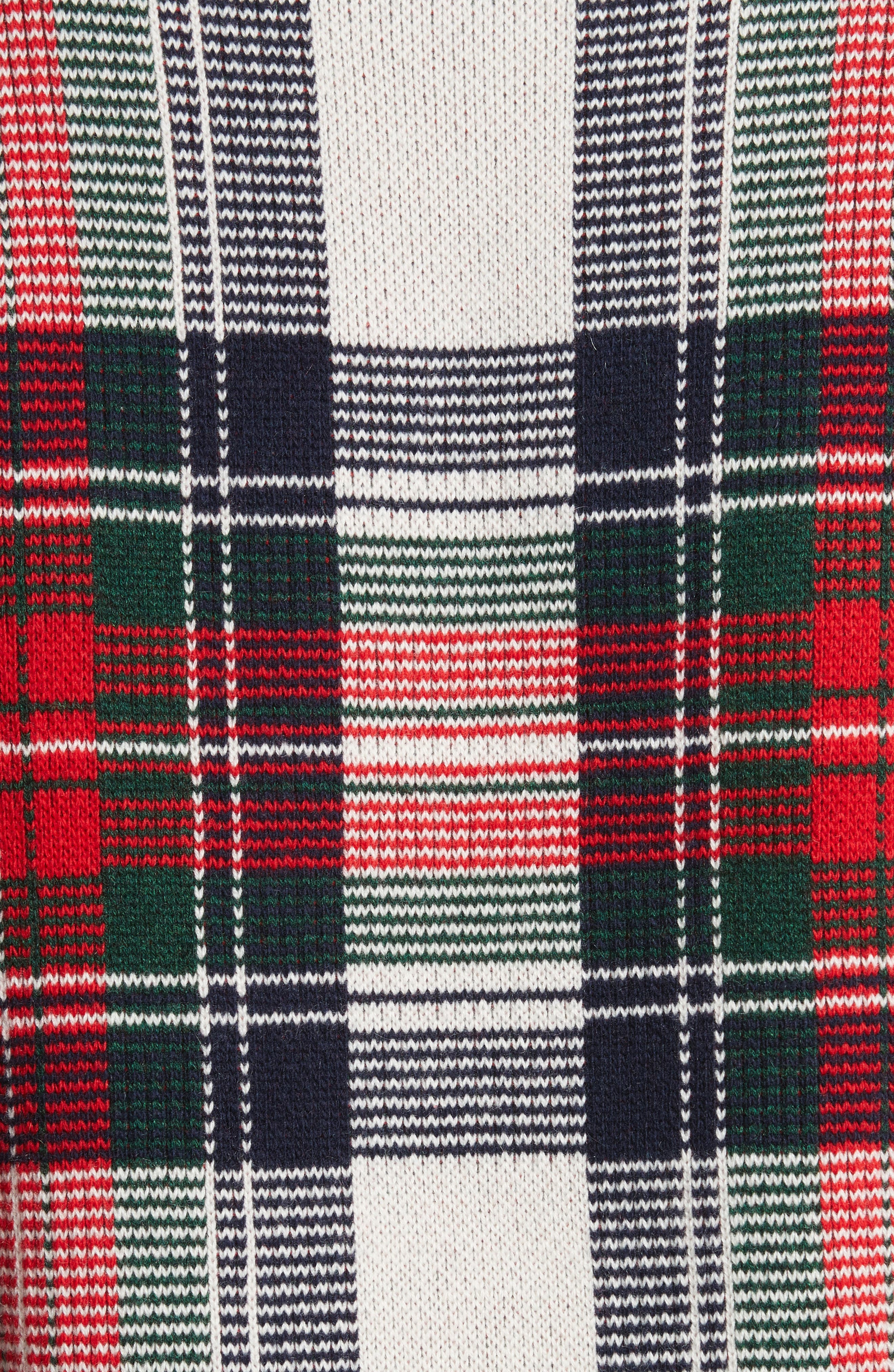 Plaid Cashmere & Wool Sweater,                             Alternate thumbnail 5, color,                             103