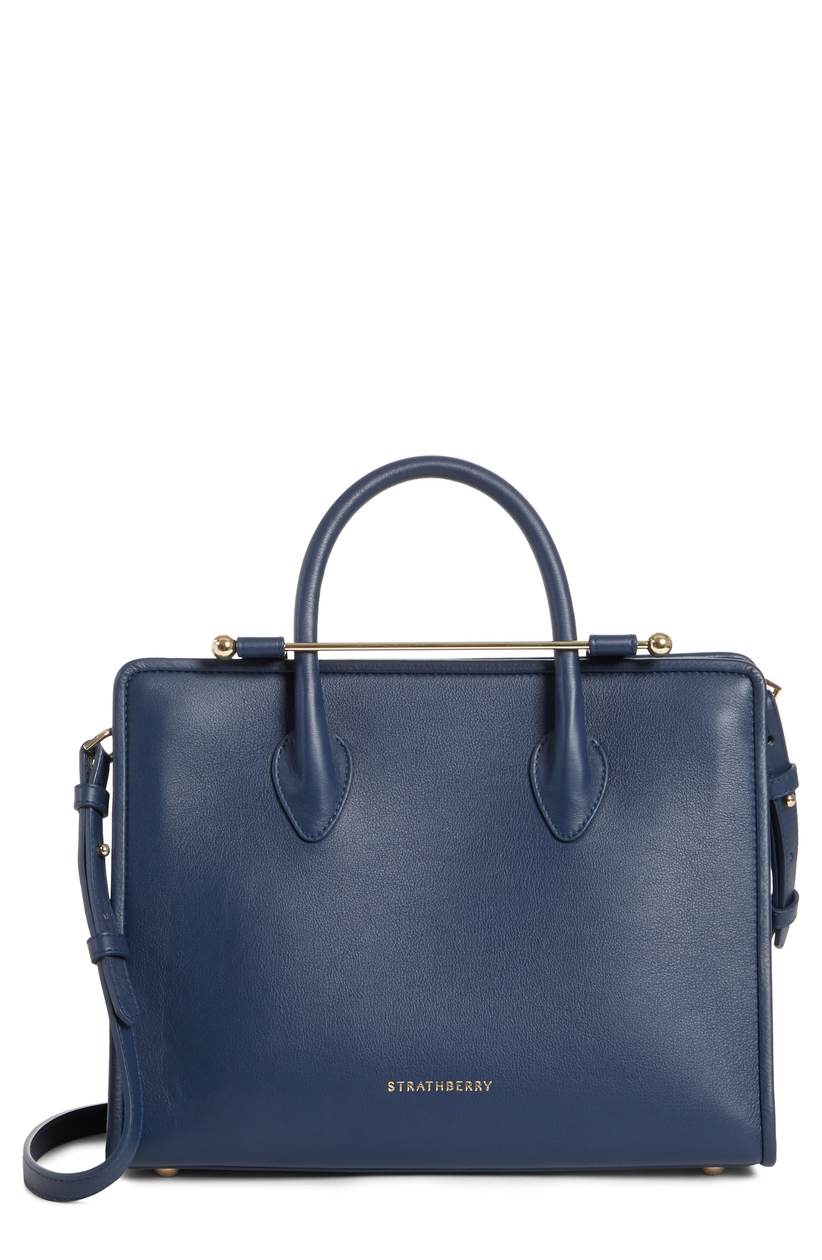 STRATHBERRY Midi Convertible Tote - Blue in Navy Blue