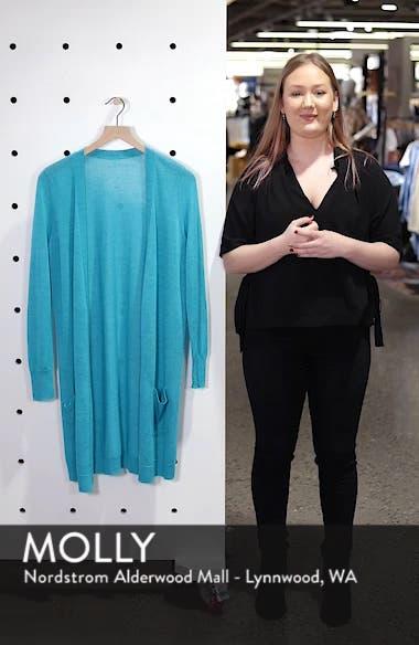 Long Linen Blend Cardigan, sales video thumbnail