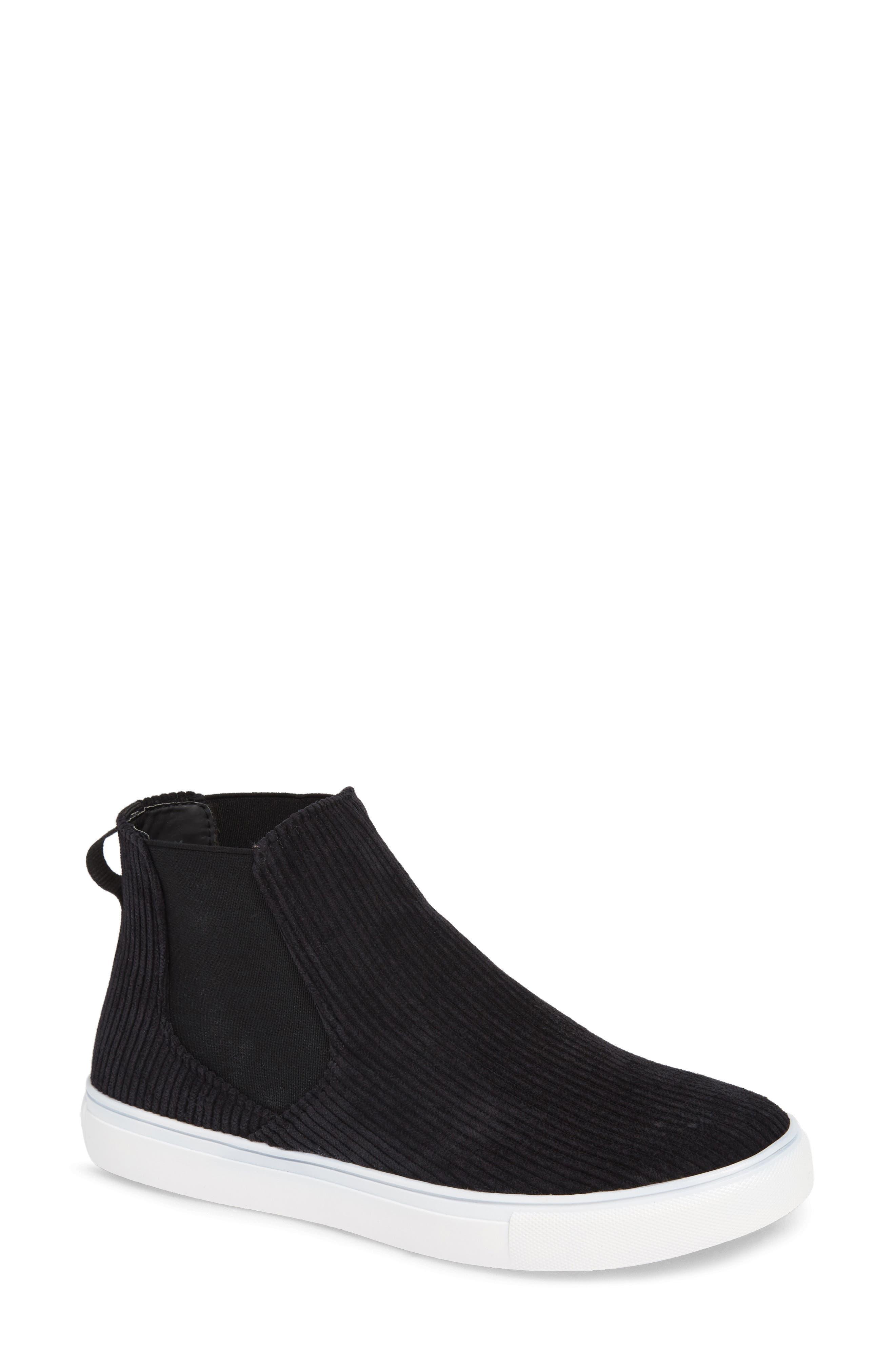 Stratford High Top Sneaker,                         Main,                         color, BLACK FABRIC