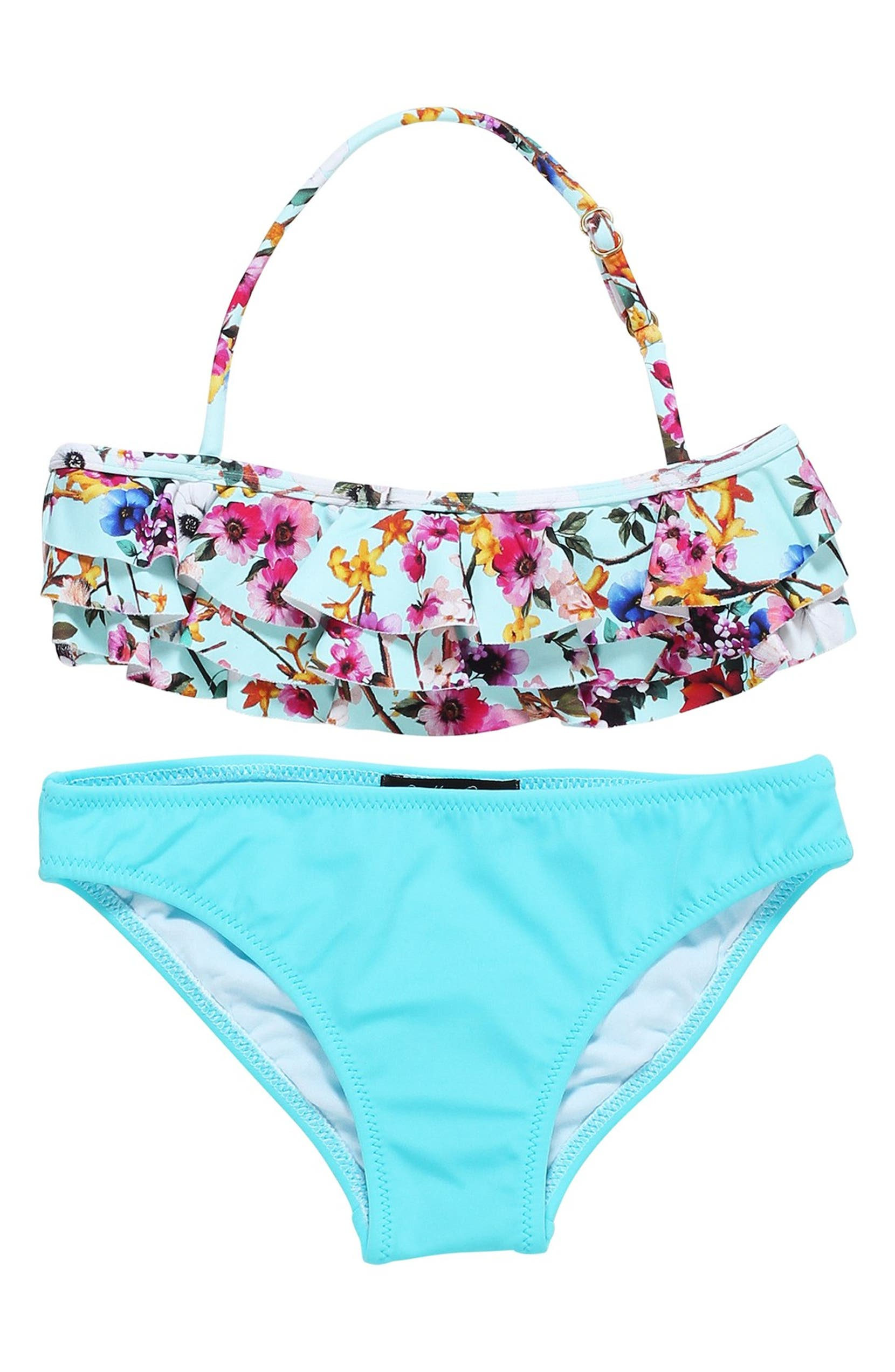 1acae0671f34c Stella Cove Floral Print Ruffle Two-Piece Swimsuit (Big Girls ...