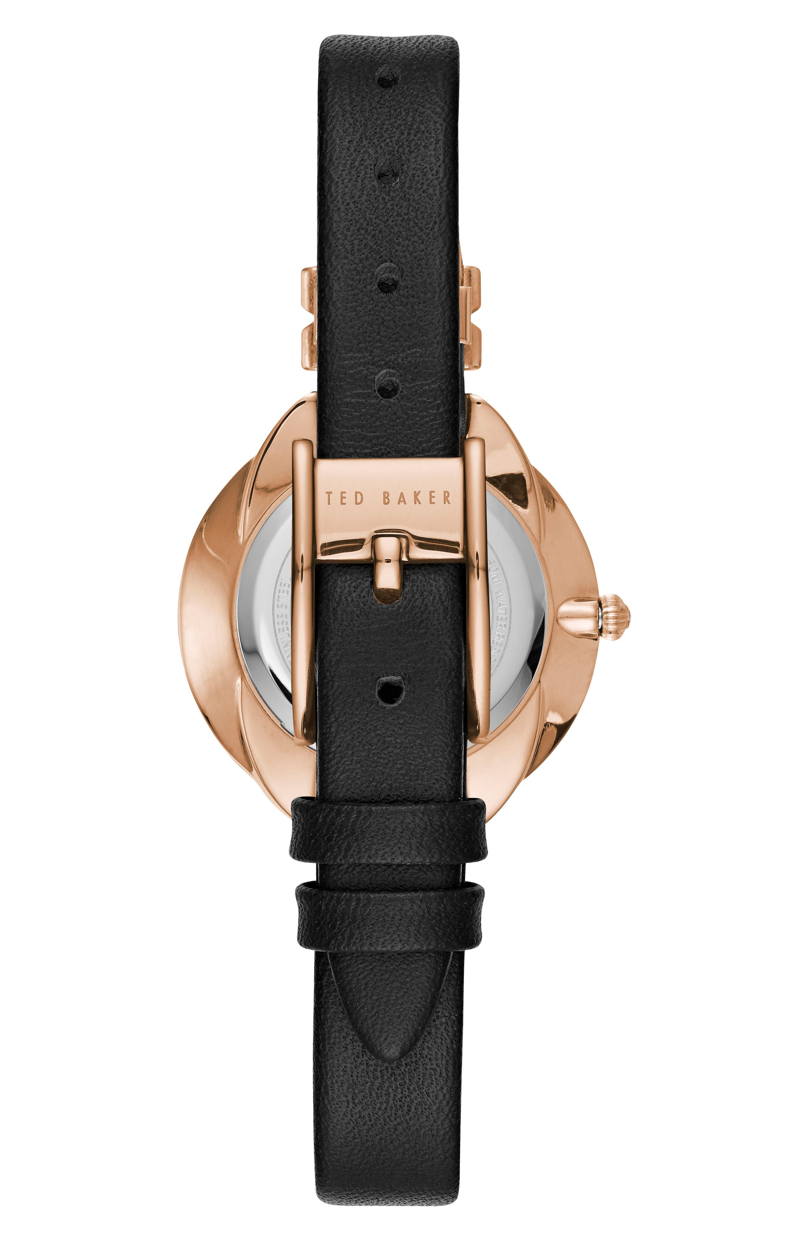 Elana Leather Strap Watch, 30mm,                             Alternate thumbnail 5, color,