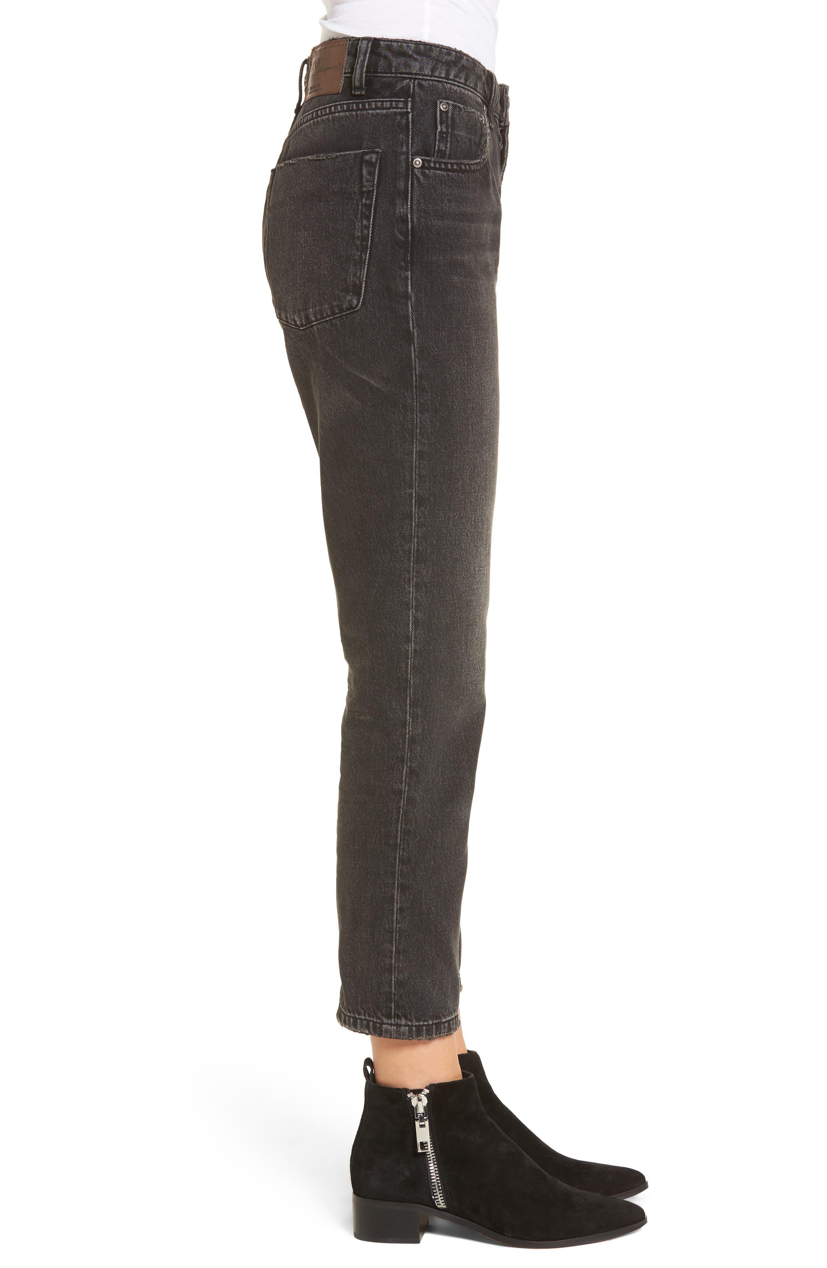 Truckers Straight Leg Jeans,                             Alternate thumbnail 3, color,                             001