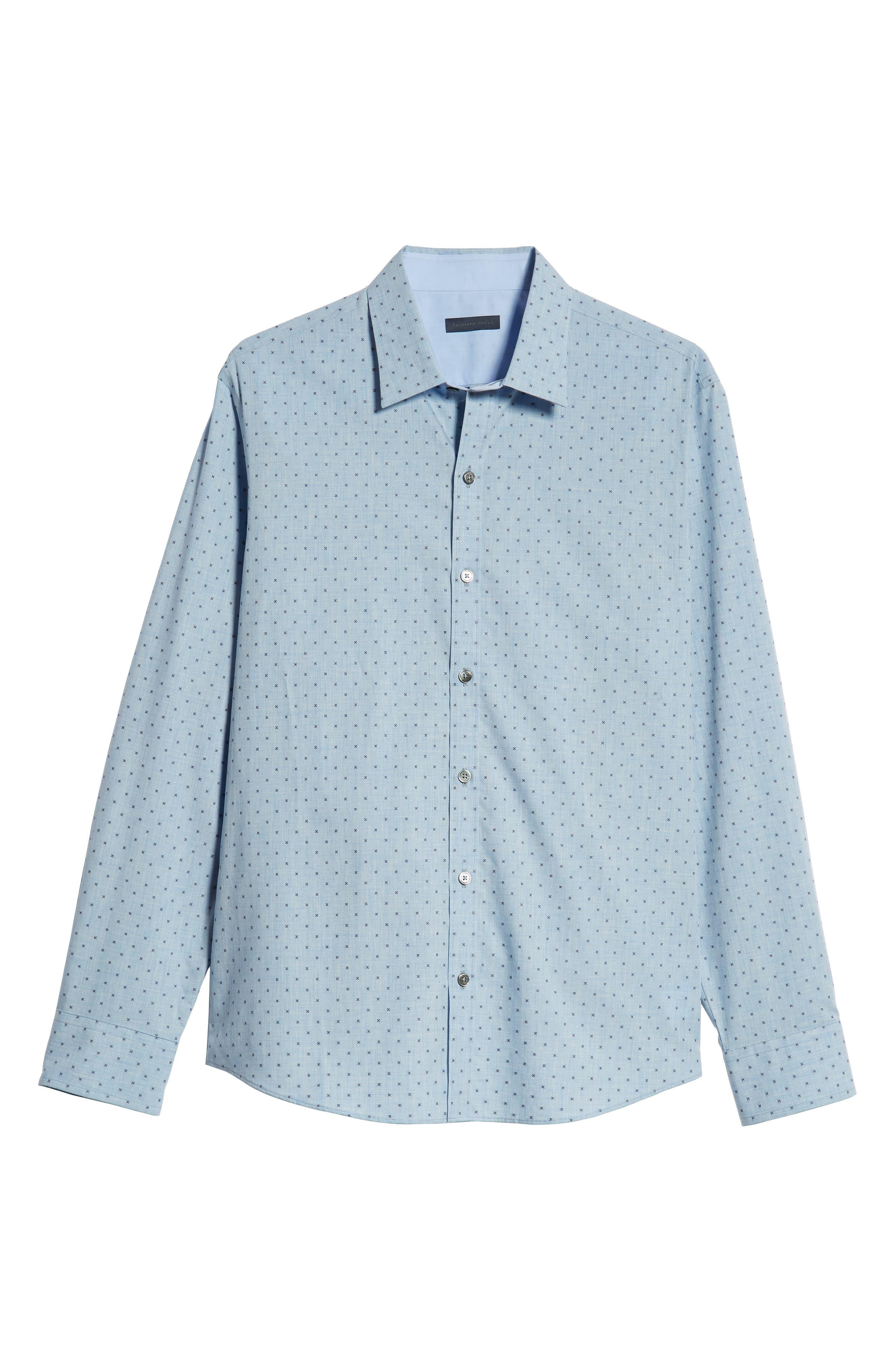 Zhang Regular Fit Sport Shirt,                             Alternate thumbnail 5, color,                             LIGHT BLUE