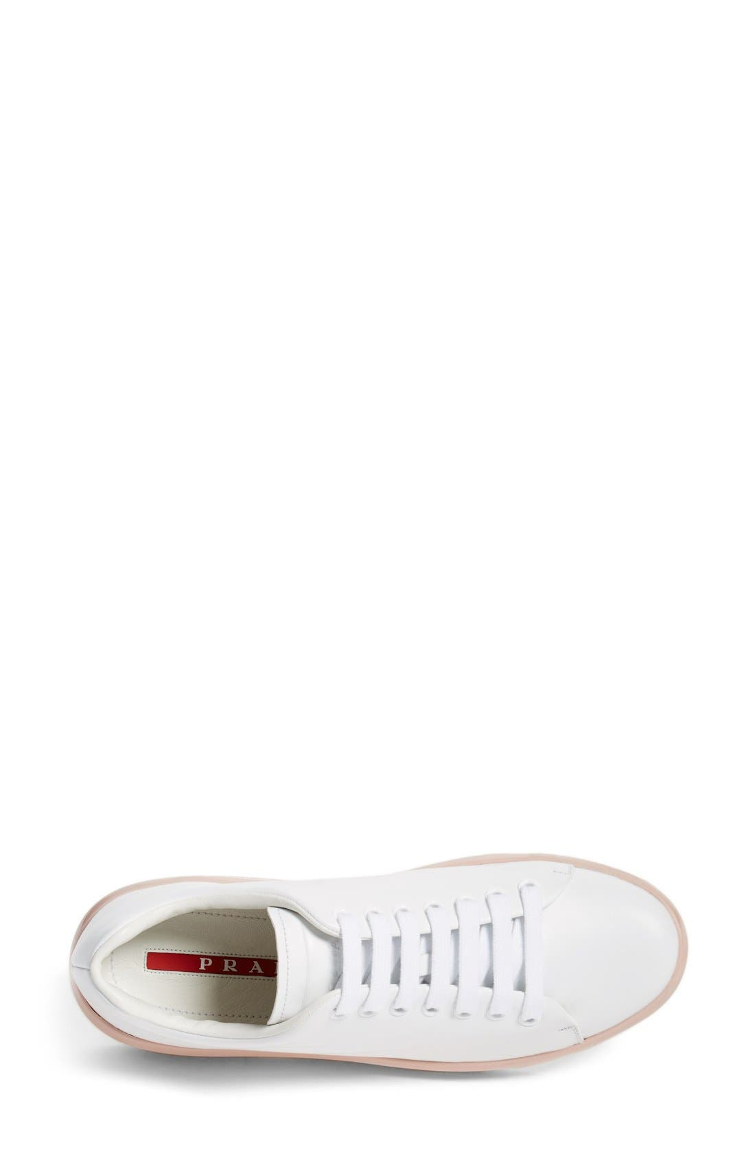 Platform Lace-Up Sneaker,                             Alternate thumbnail 6, color,                             100