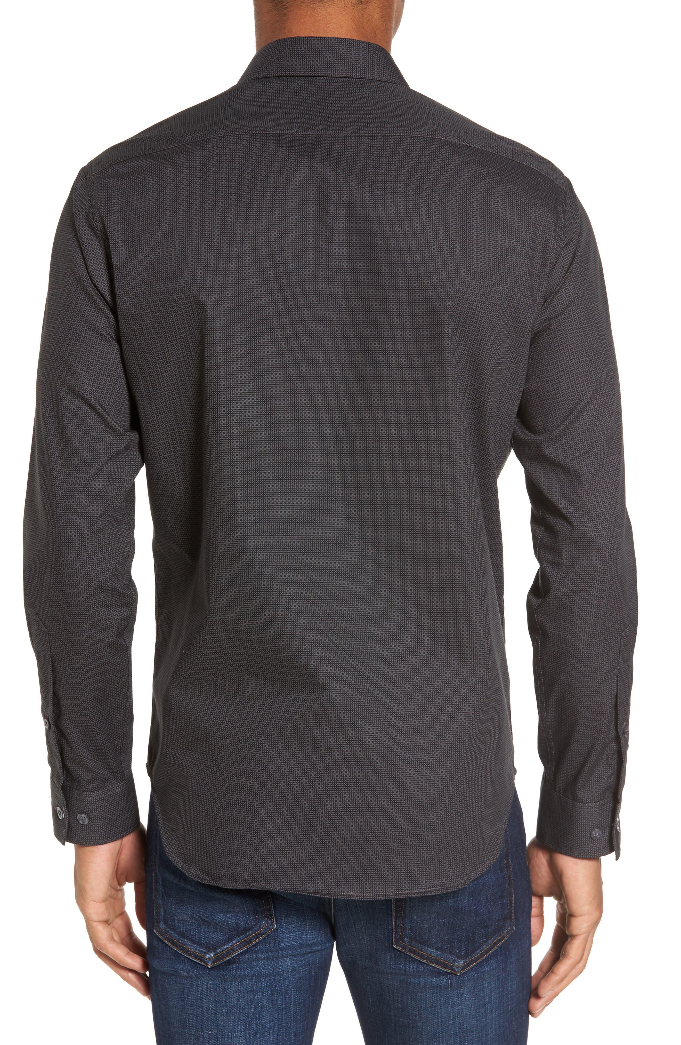 Slim Fit Print Sport Shirt,                             Alternate thumbnail 2, color,                             001