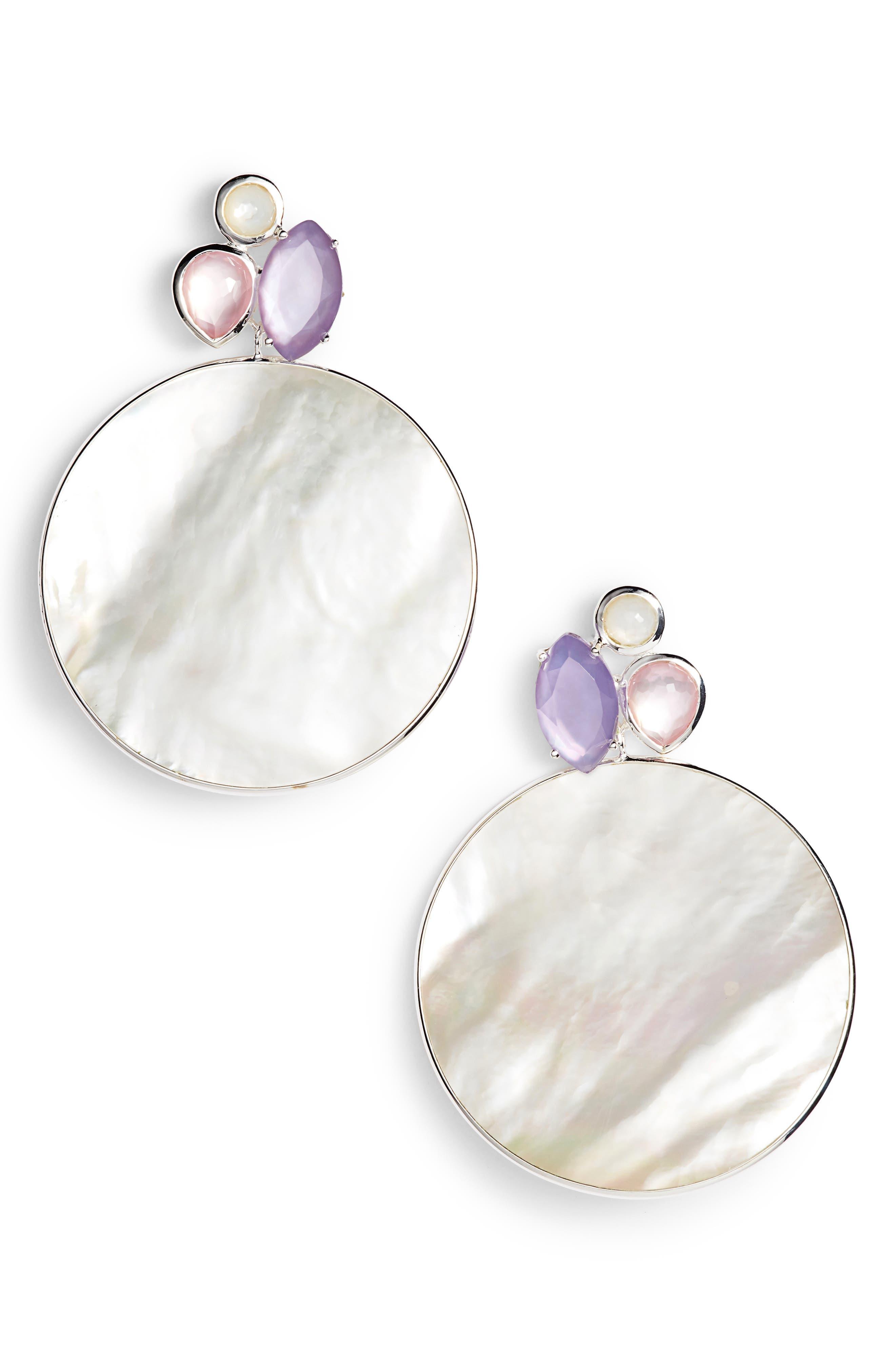 Wonderland Disc Drop Earrings,                             Main thumbnail 1, color,                             650