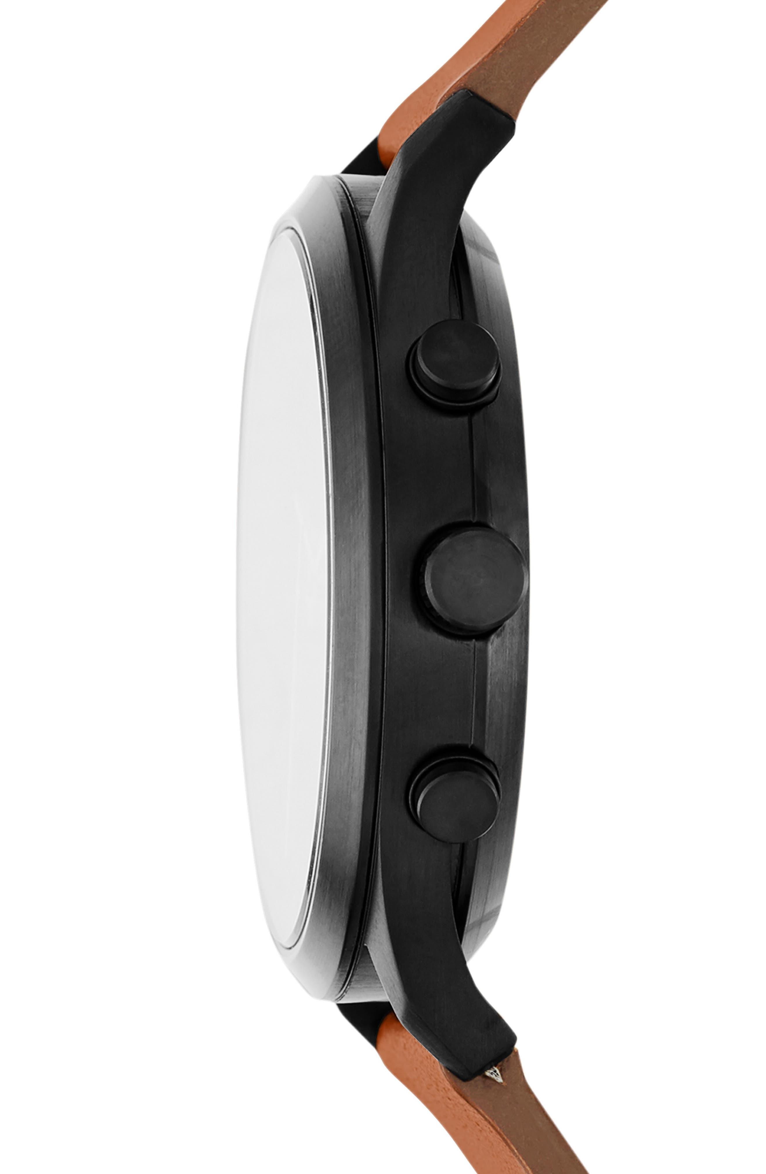 Jorn Chronograph Leather Strap Watch, 41mm,                             Alternate thumbnail 2, color,                             BROWN/ BLACK