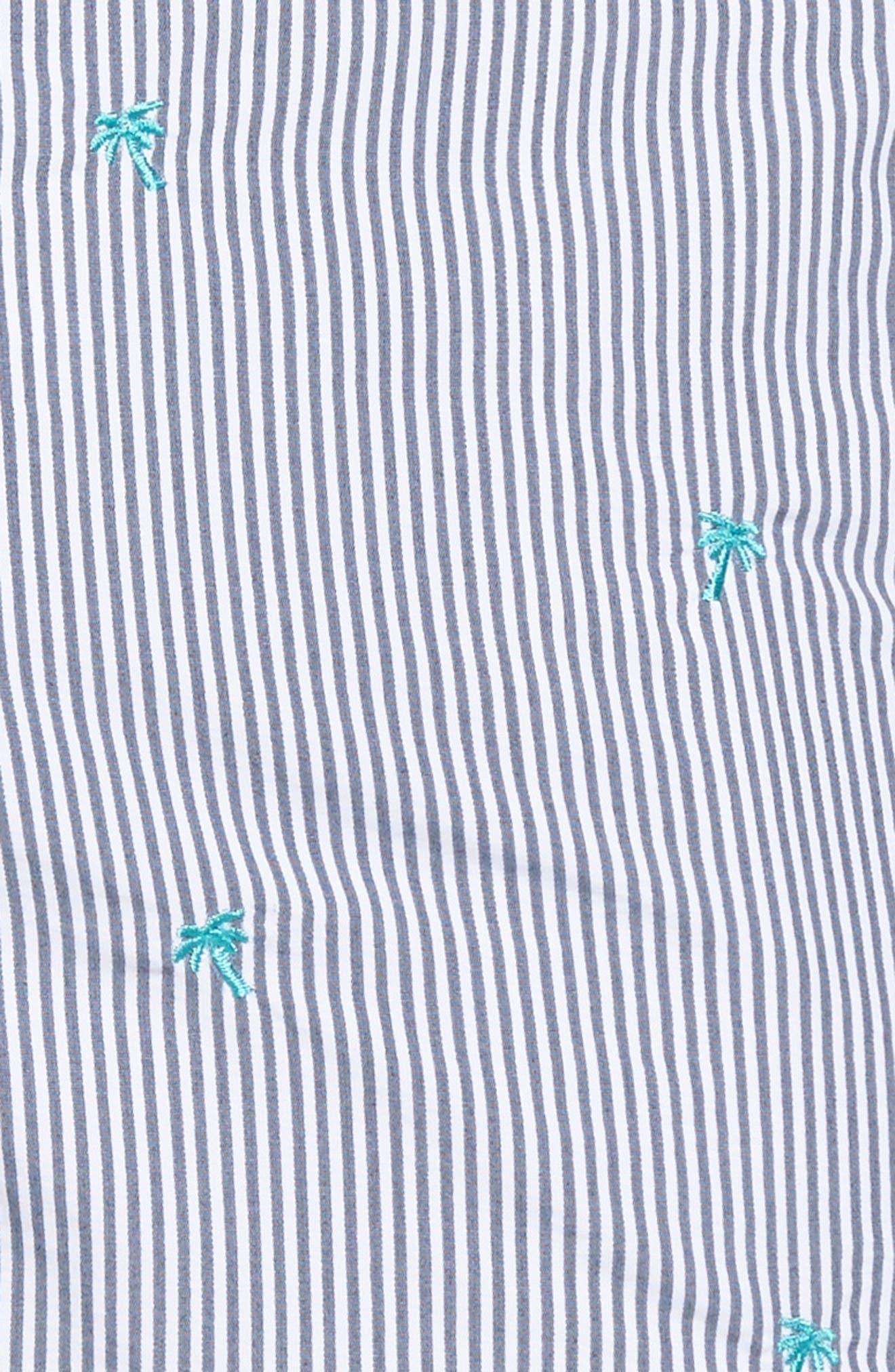 Aruba Palm Swim Trunks,                             Alternate thumbnail 5, color,                             440