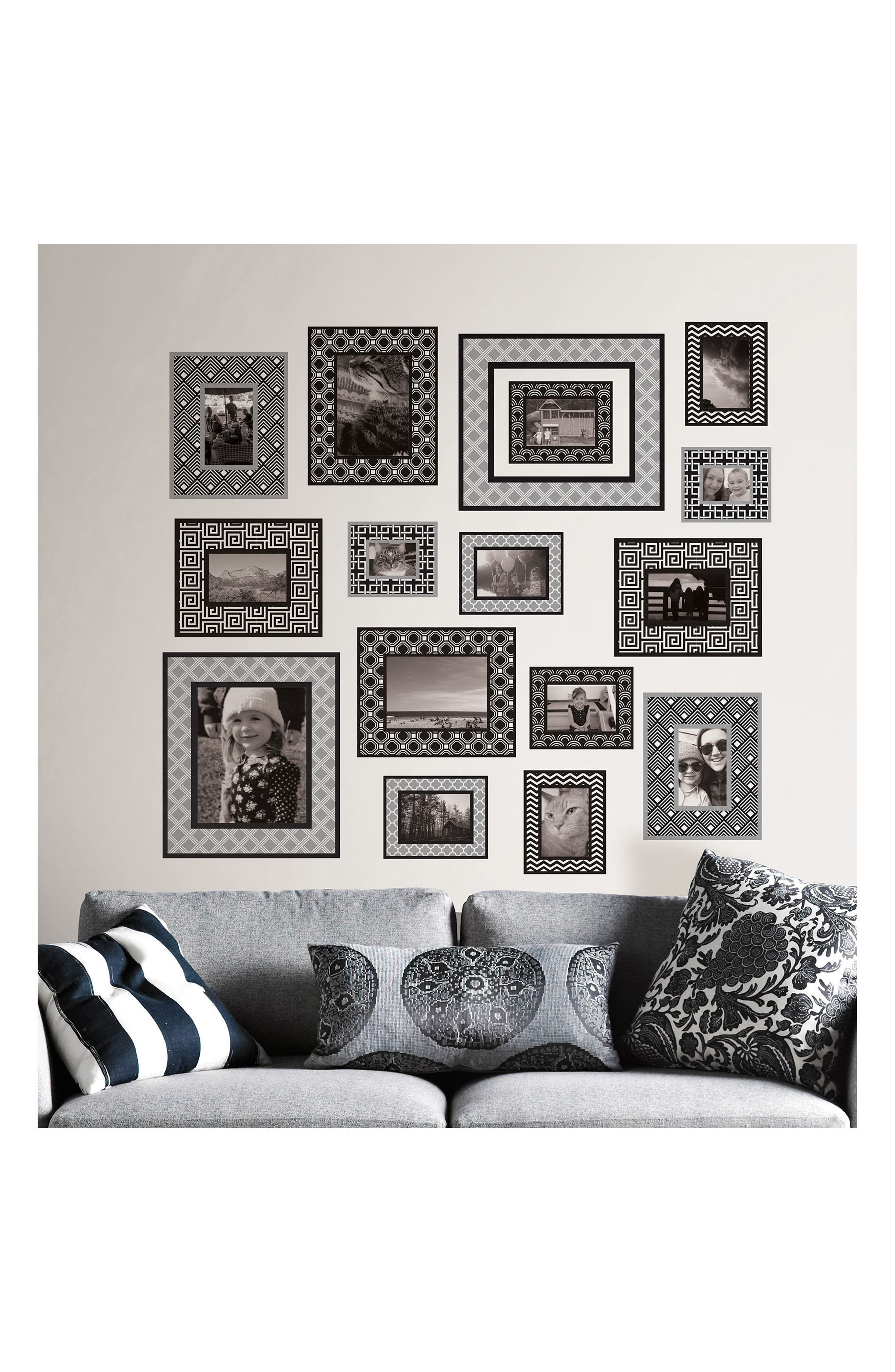 Photo Gallery 16-Piece Wall Art Decal Set,                             Alternate thumbnail 2, color,                             001