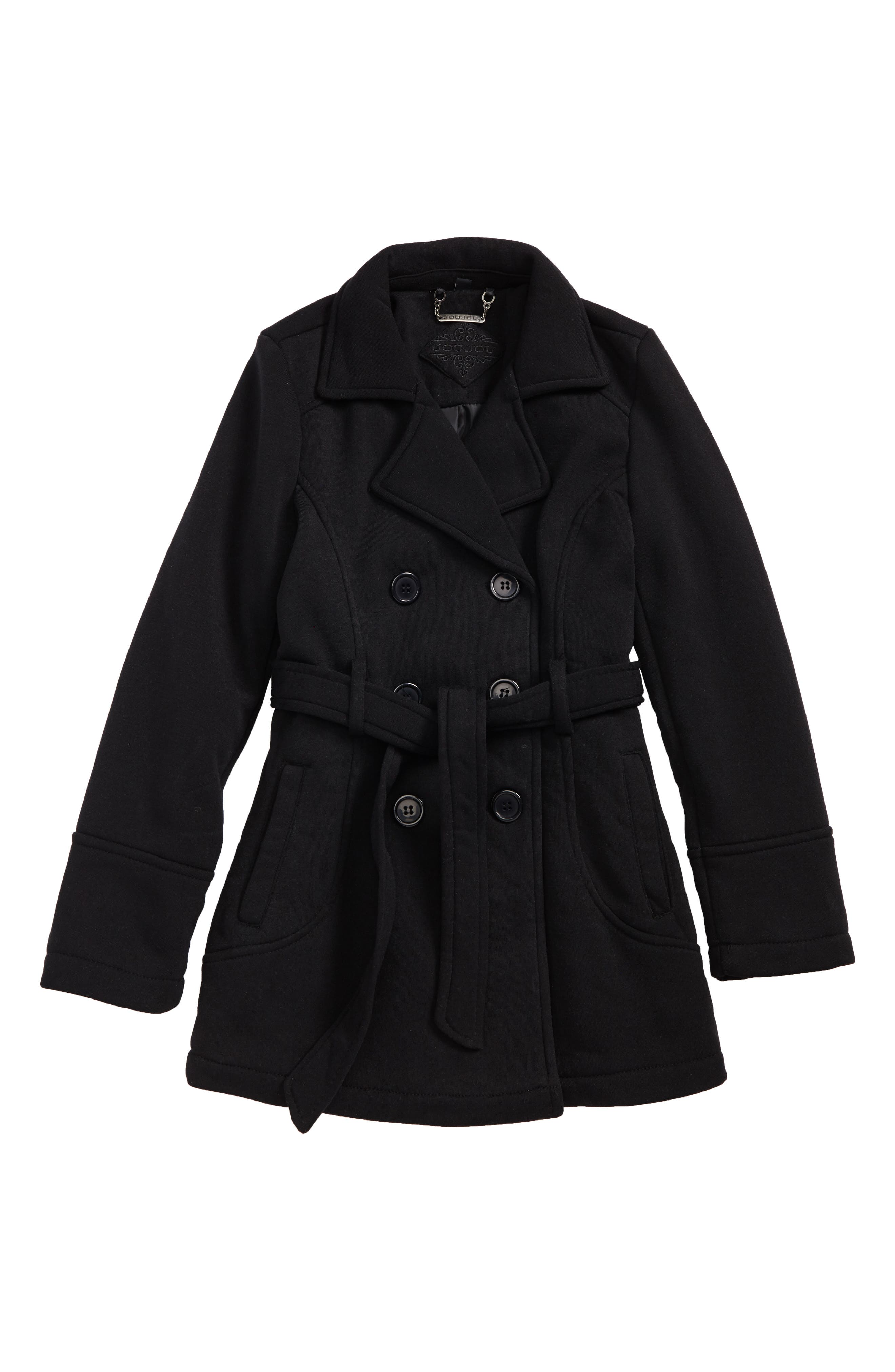 Double-Breasted Coat,                             Main thumbnail 1, color,                             001