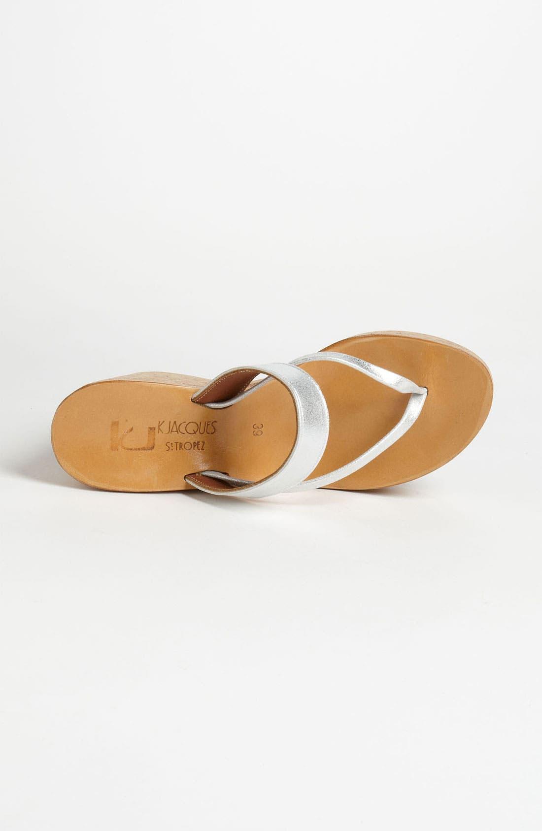 K.JACQUES ST. TROPEZ,                             'Saturnine' Cork Wedge Sandal,                             Alternate thumbnail 3, color,                             040