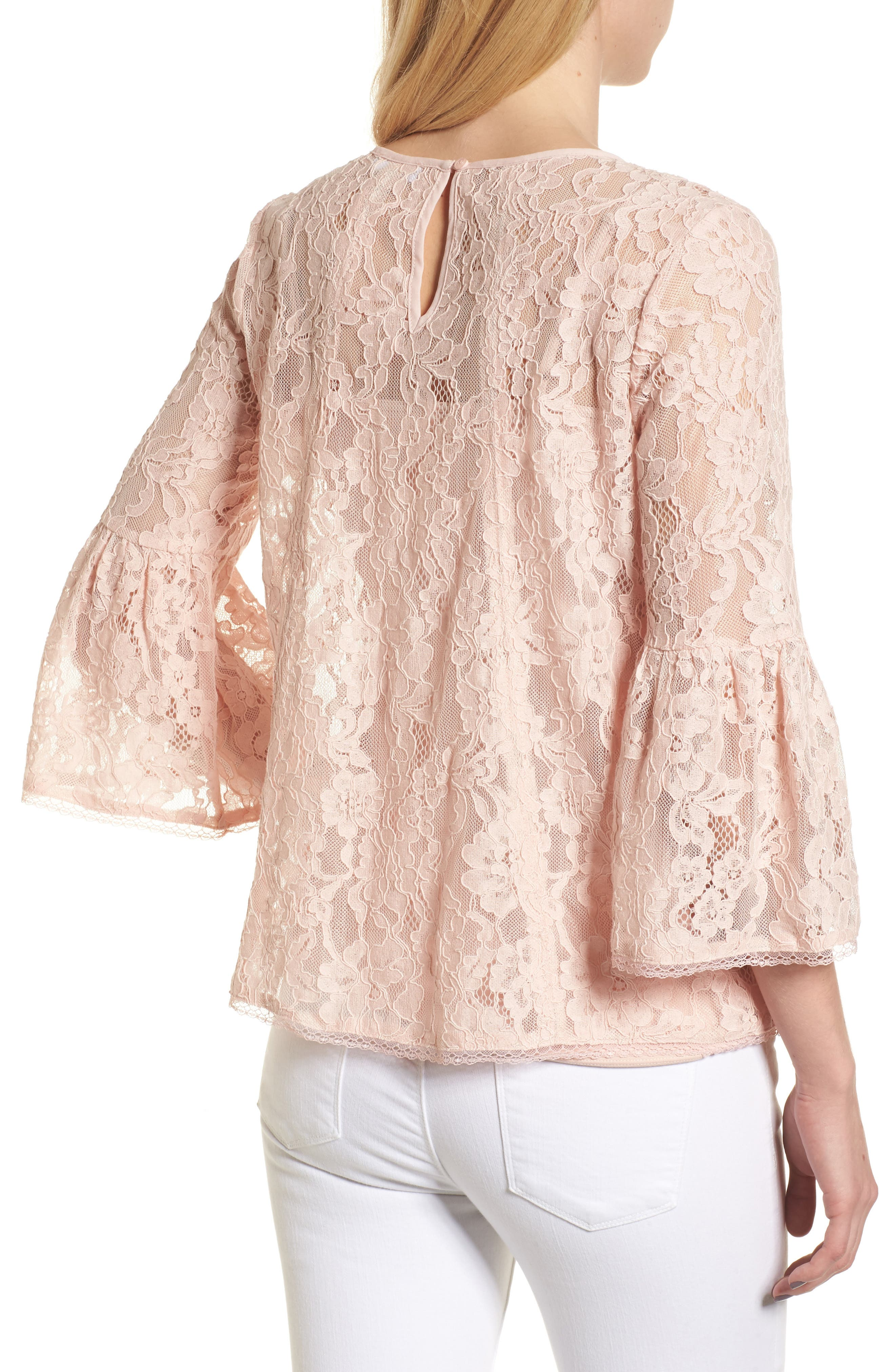 Bell Sleeve Lace Top,                             Alternate thumbnail 5, color,