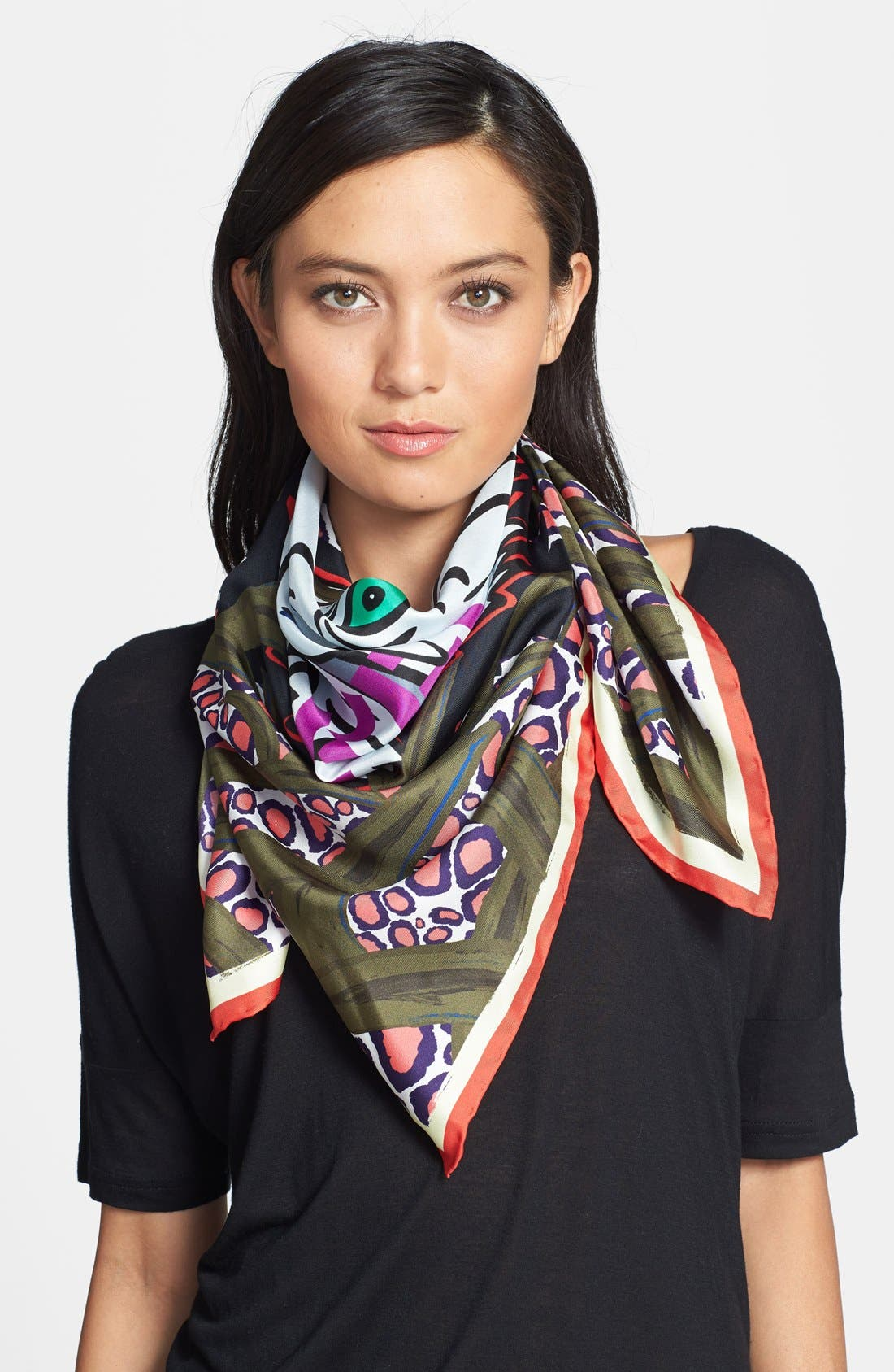 KENZO 'New Tiger Head' Scarf, Main, color, 300