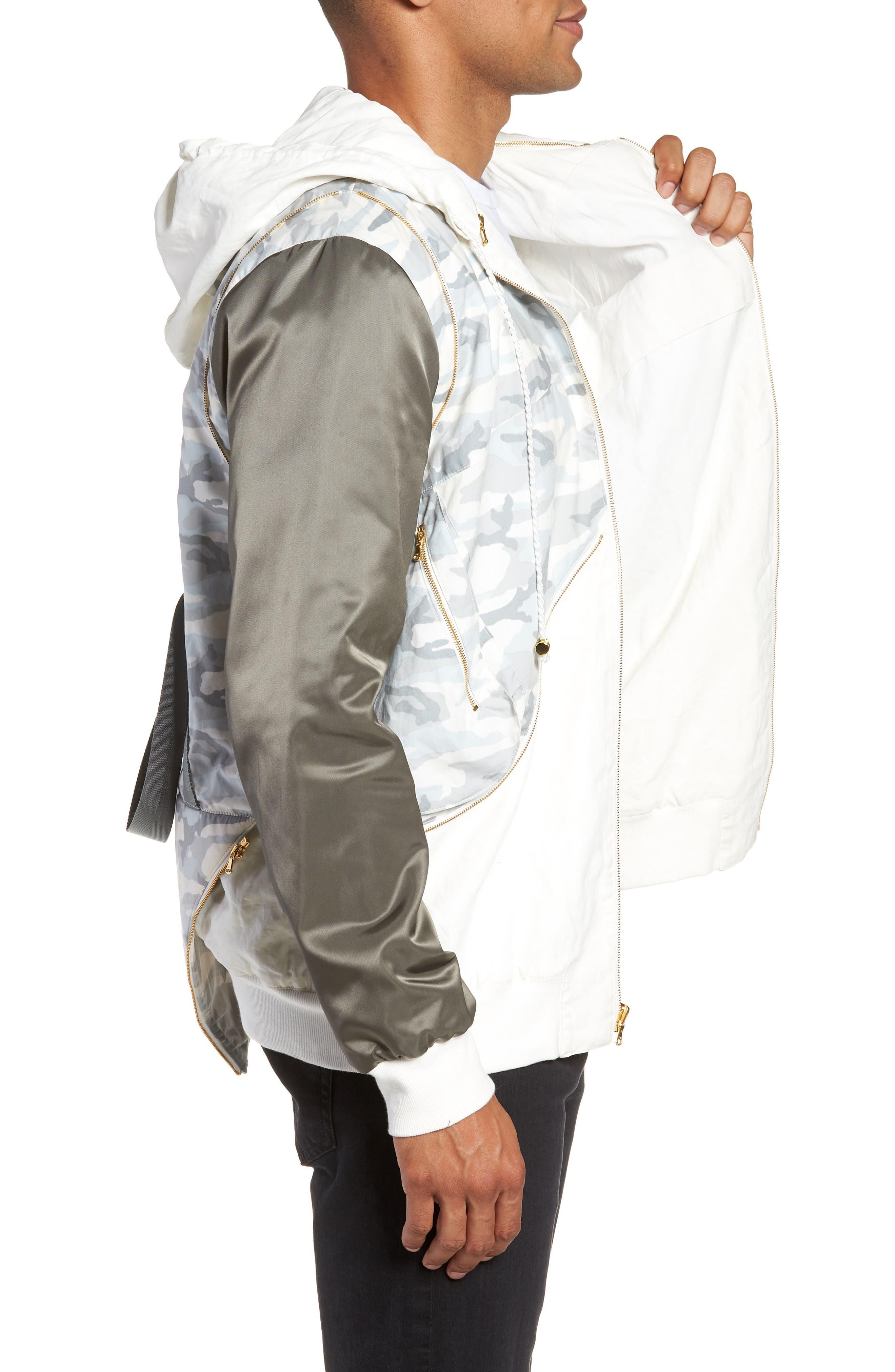 New Reversible Backpack Jacket,                             Alternate thumbnail 4, color,                             CREAM