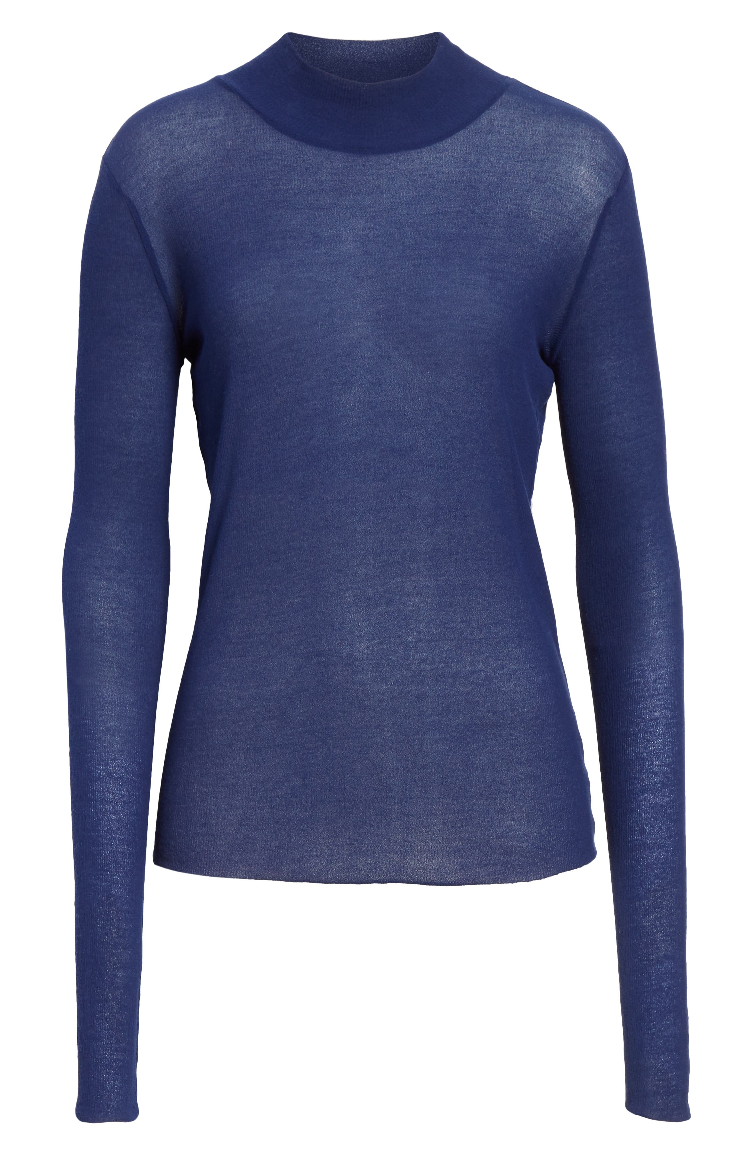 Turtleneck Sweater,                             Alternate thumbnail 6, color,                             406