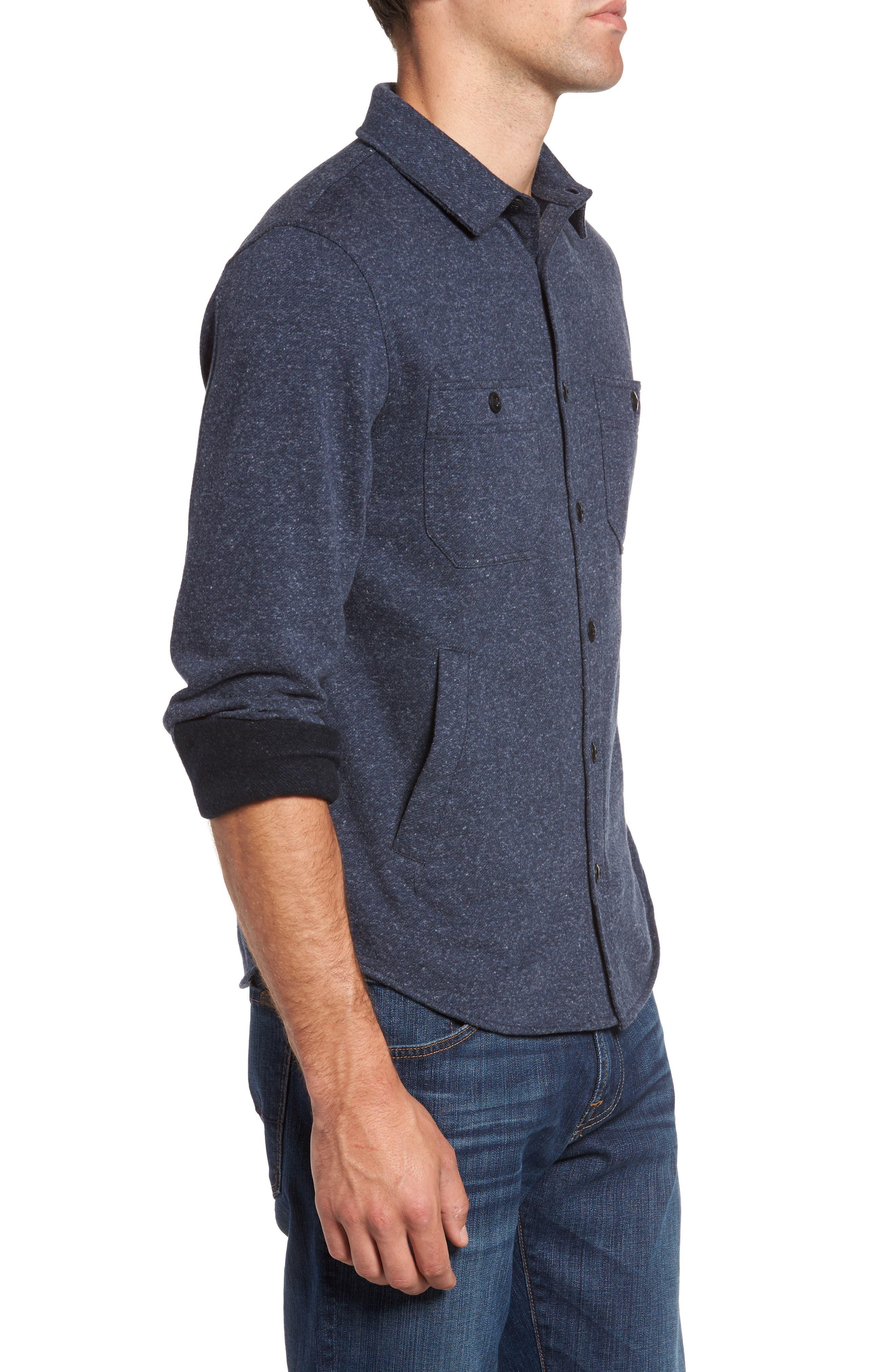 Bayswater Modern Fit Heathered Shirt Jacket,                             Alternate thumbnail 3, color,                             413