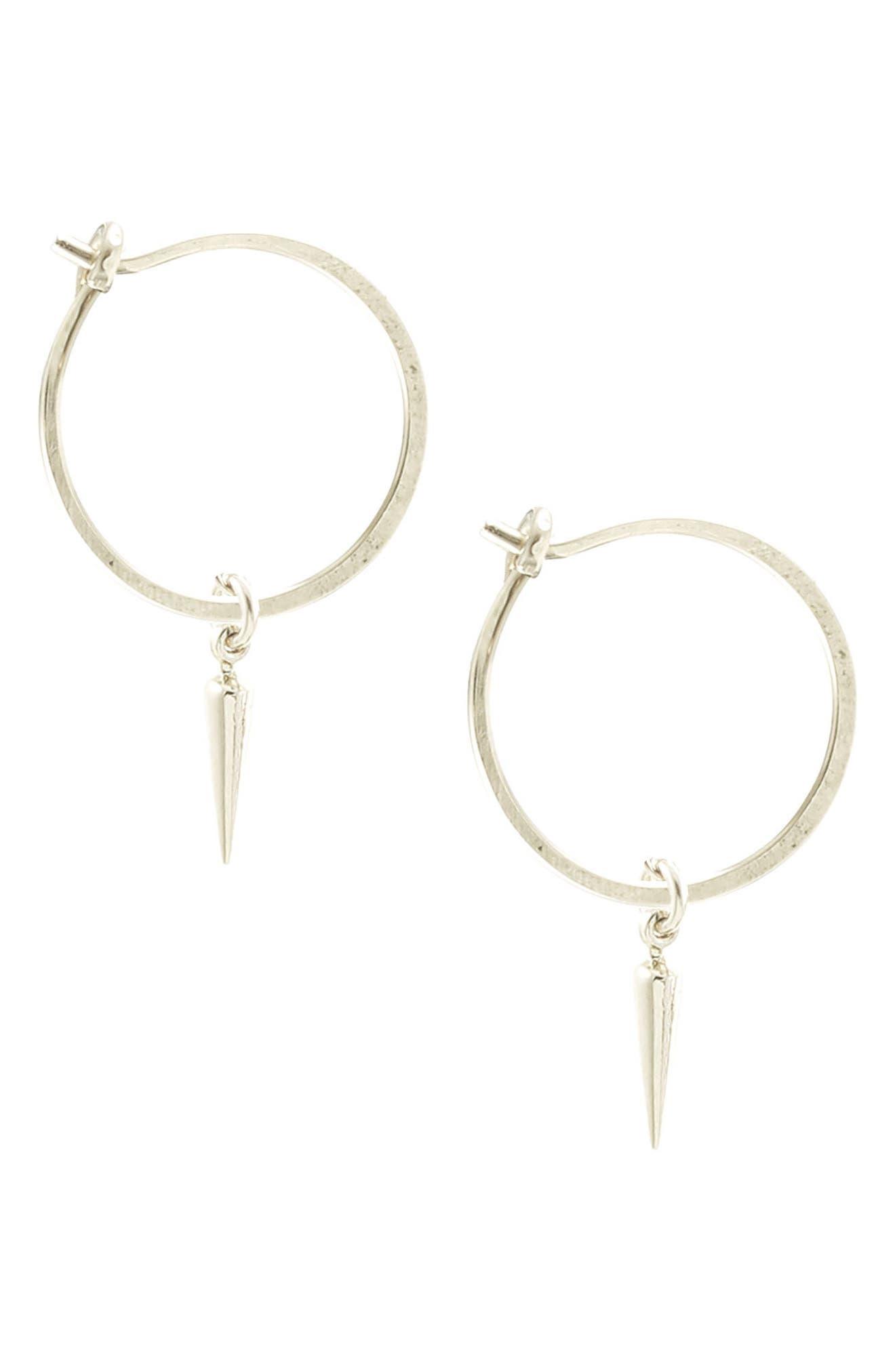 Spike Hoop Earrings,                         Main,                         color,