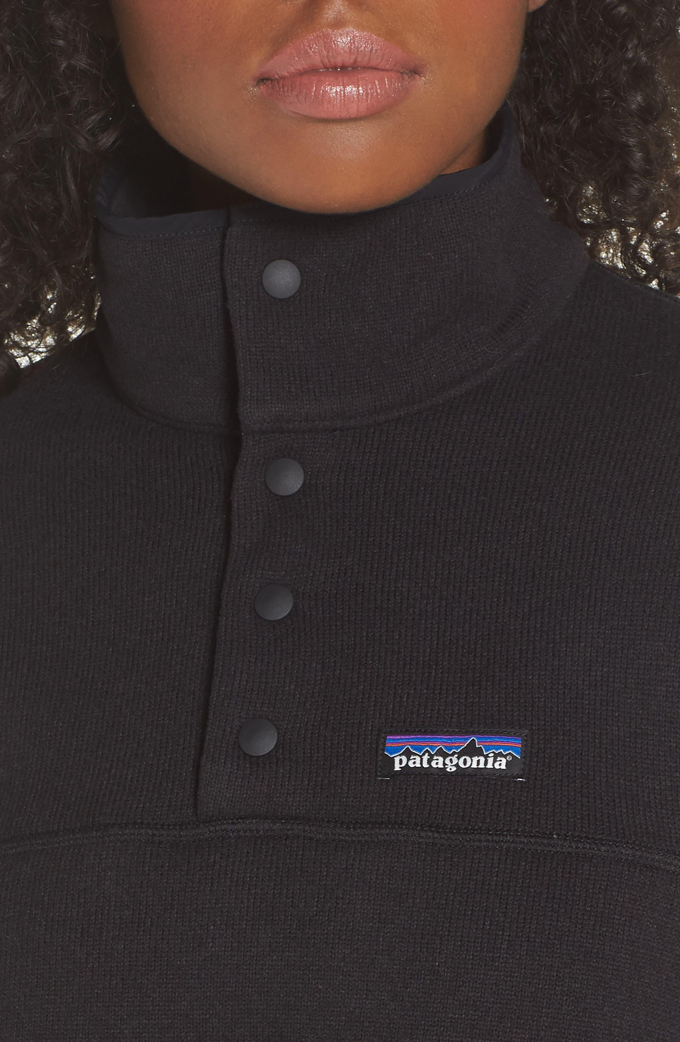 Lightweight Better Sweater Fleece,                             Alternate thumbnail 4, color,                             BLACK